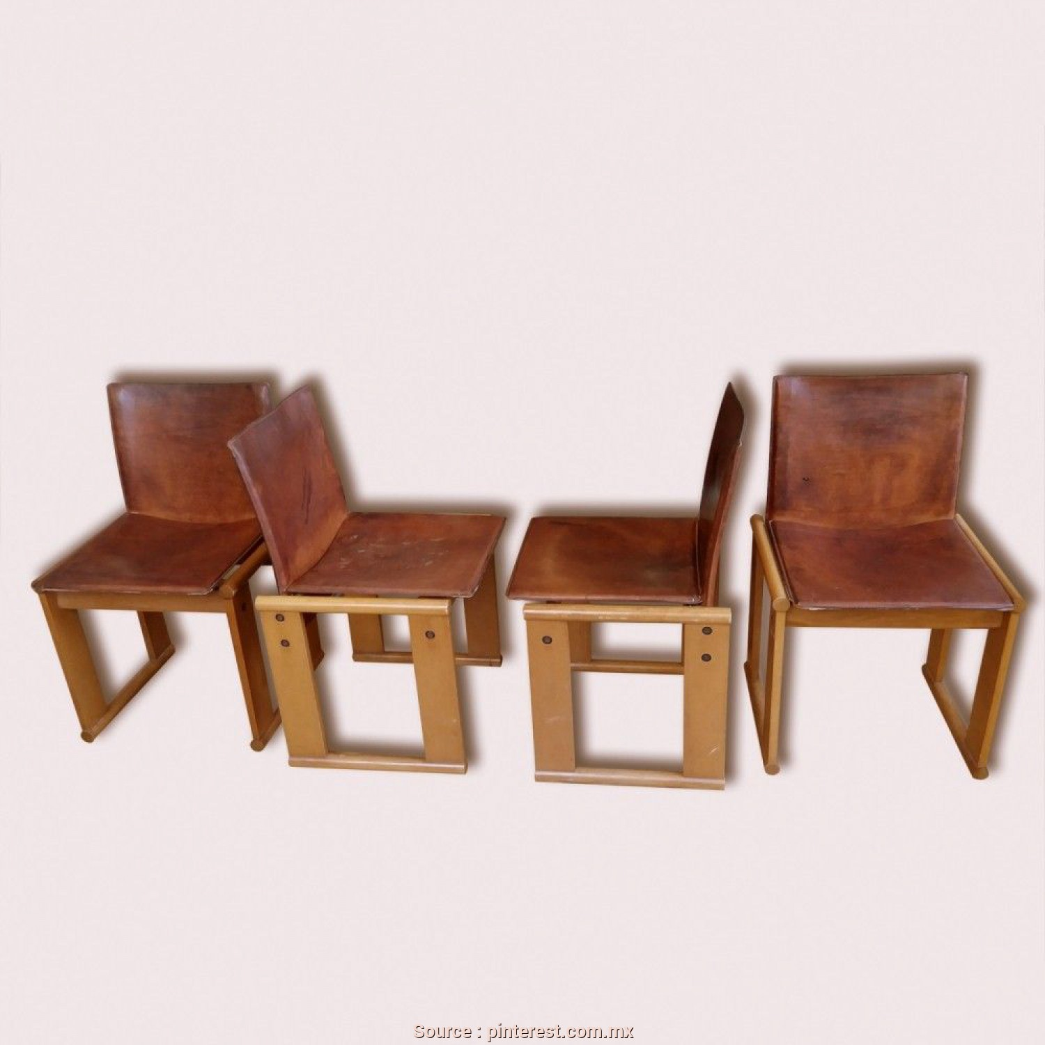 4 Molteni Lettings, Esclusivo Set Of 4 Monk Lounge Chairs From, Seventies By Afra Scarpa & Tobia Scarpa For