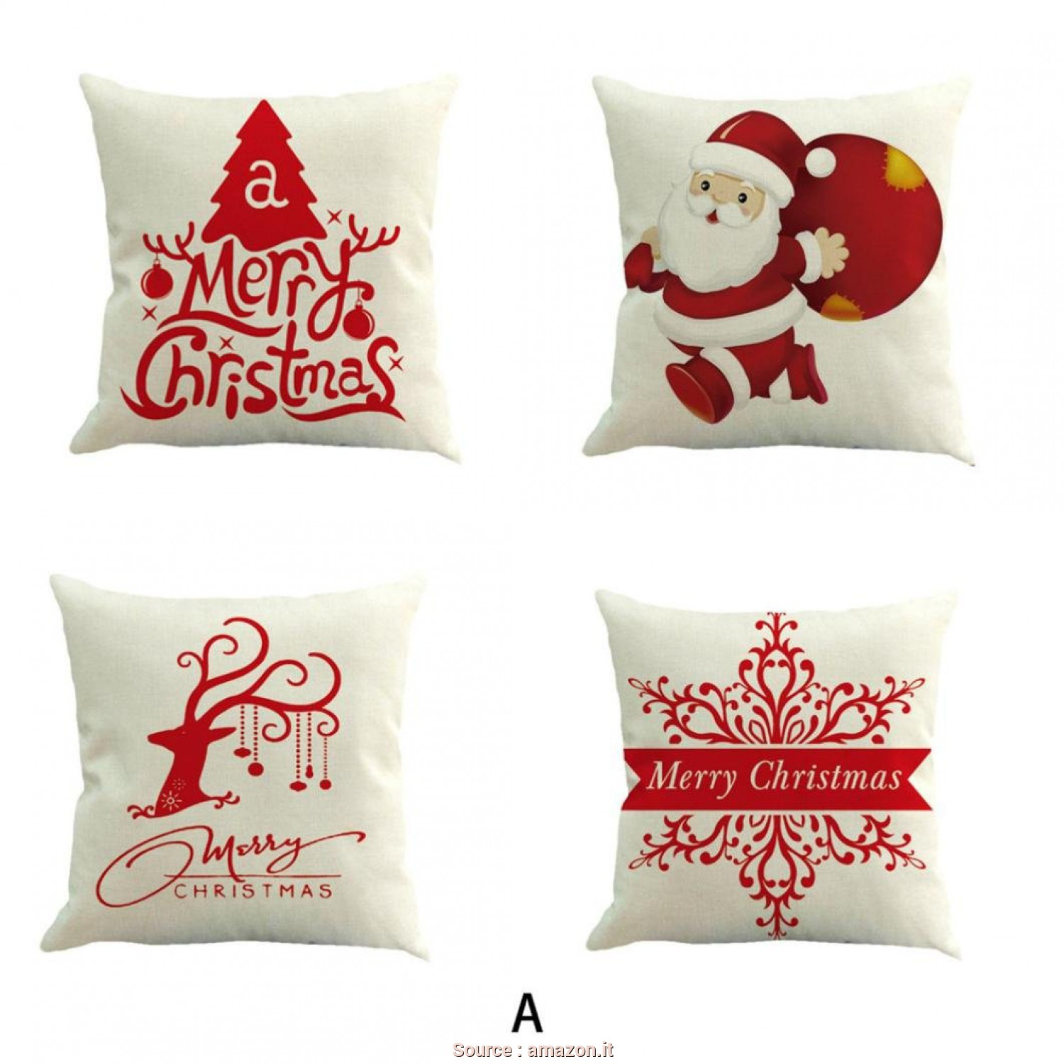 Amazon Cuscini Divano Natalizi, Magnifico Federa Di Natale,Kword, Federa Cuscino Seta Home Vita Cuscino Cotone Lino Divano, Throw Pillow Case, Natale,Federa Cuscino Letto (A): Amazon.It: