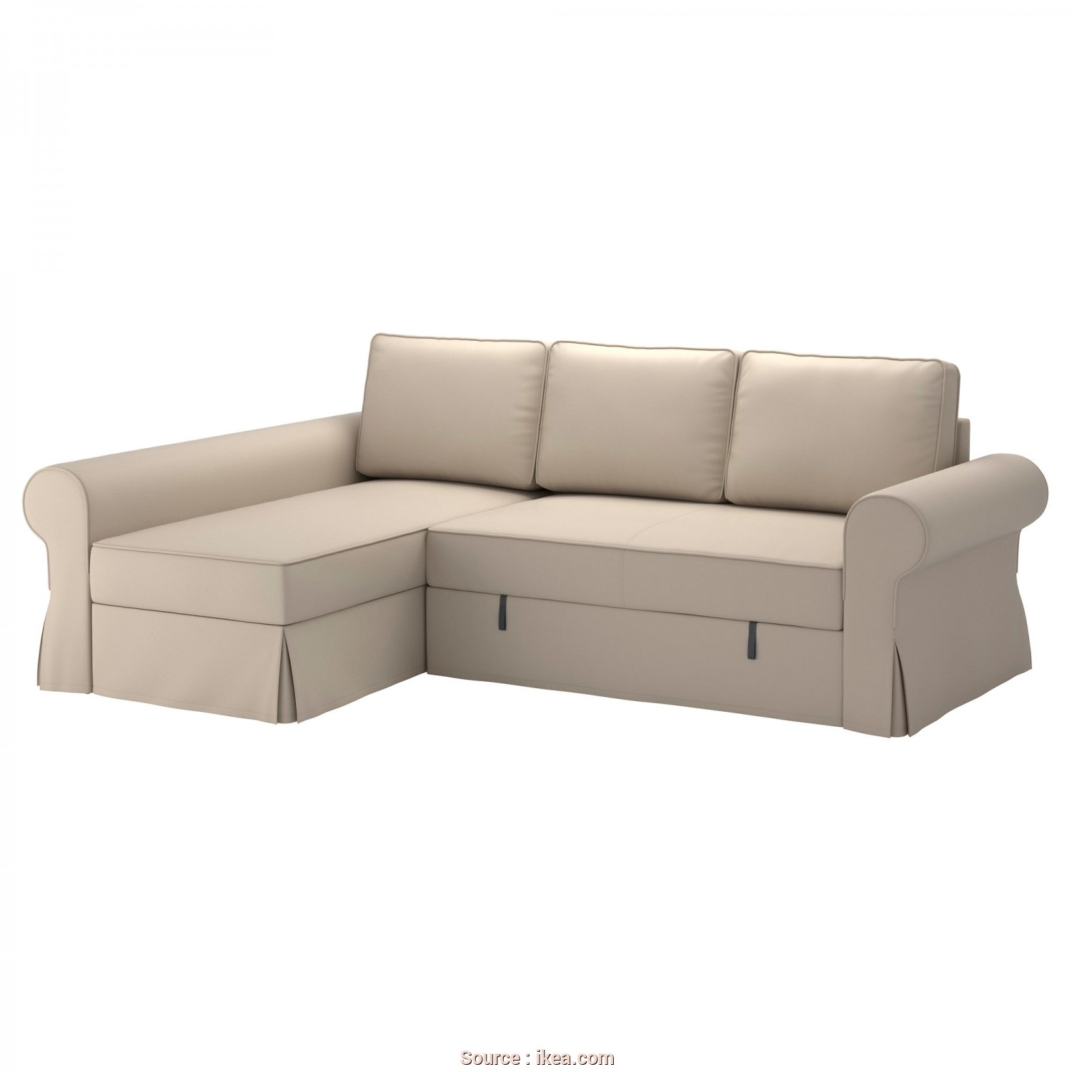 Backabro Bettsofa Ikea, Esclusivo BACKABRO Cover Sofa-Bed With Chaise Longue Ramna Beige, IKEA