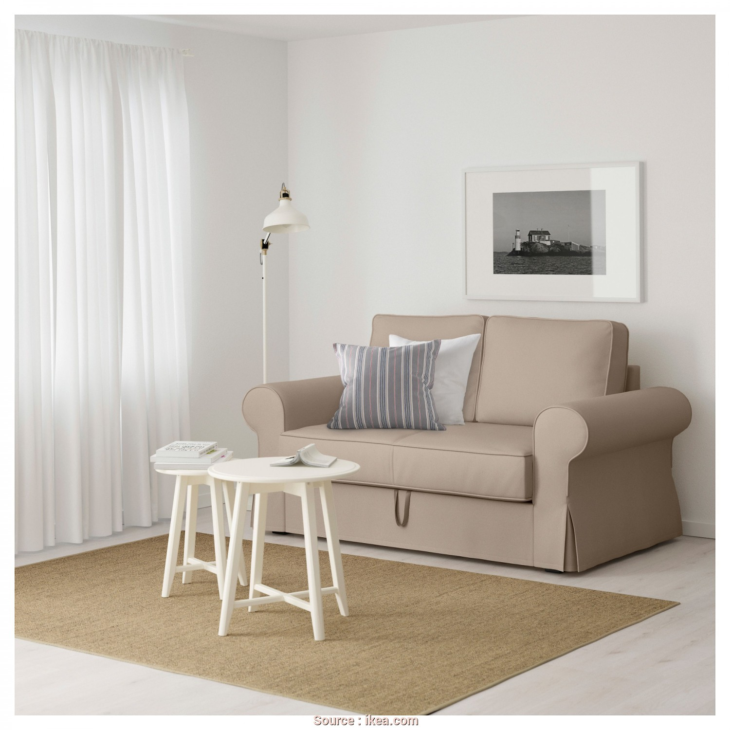 Backabro Ikea Couch, Migliore BACKABRO Two-Seat Sofa-Bed Ramna Beige