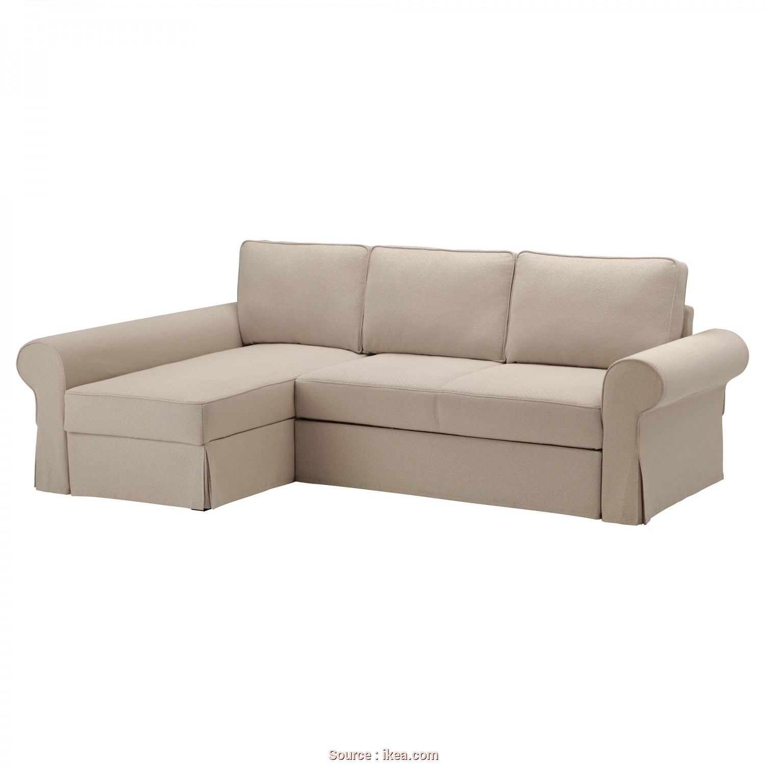 Backabro Ikea Cover, Fantasia BACKABRO Cover Sofa-Bed With Chaise Longue Hylte Beige