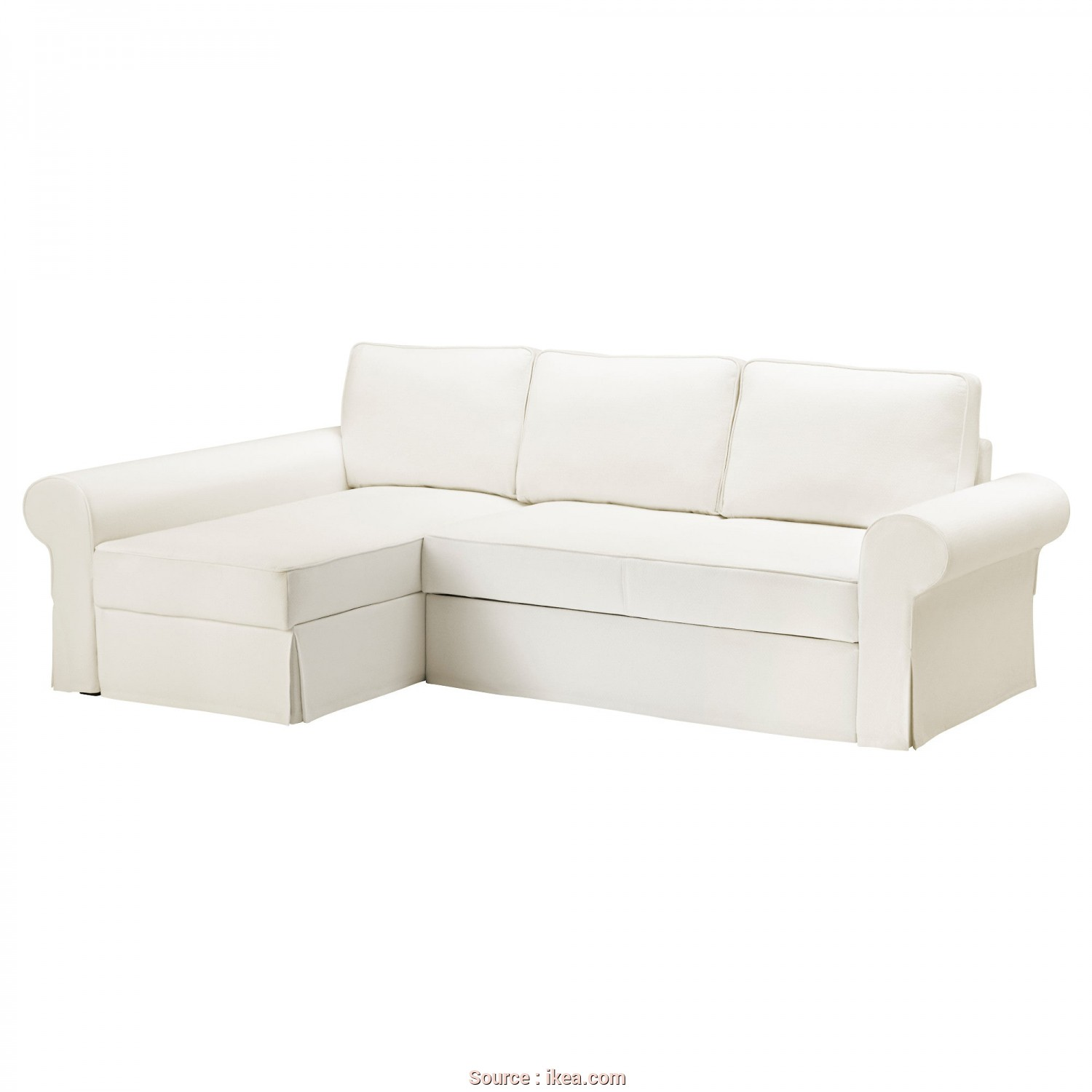 Backabro Ikea Cover, Deale BACKABRO Cover Sofa-Bed With Chaise Longue Hylte White