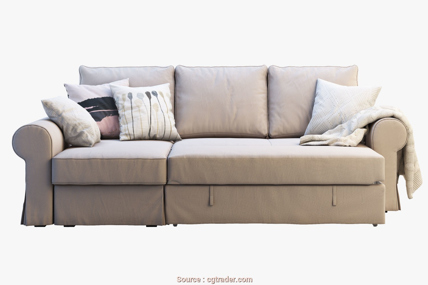 Backabro Ikea, Deale ... Ikea Backabro 2 Sofas 3D Model, Obj, 3Ds, 6