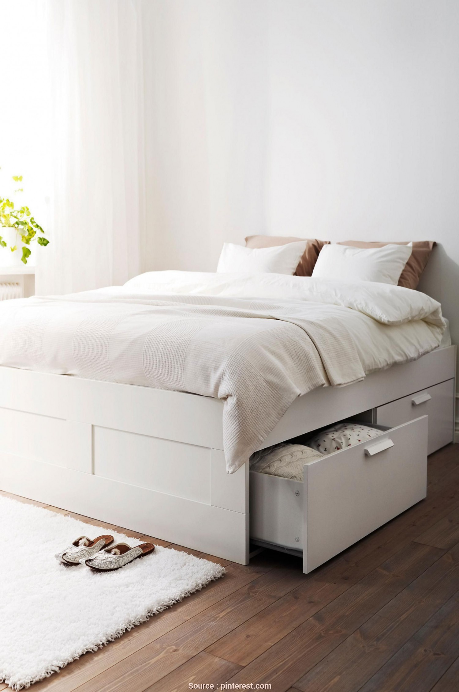 Brimnes Letto Video, Grande Ikea-Bed-Frame-Drawers, Bedroom Inspiration, Bedroom, Brimnes