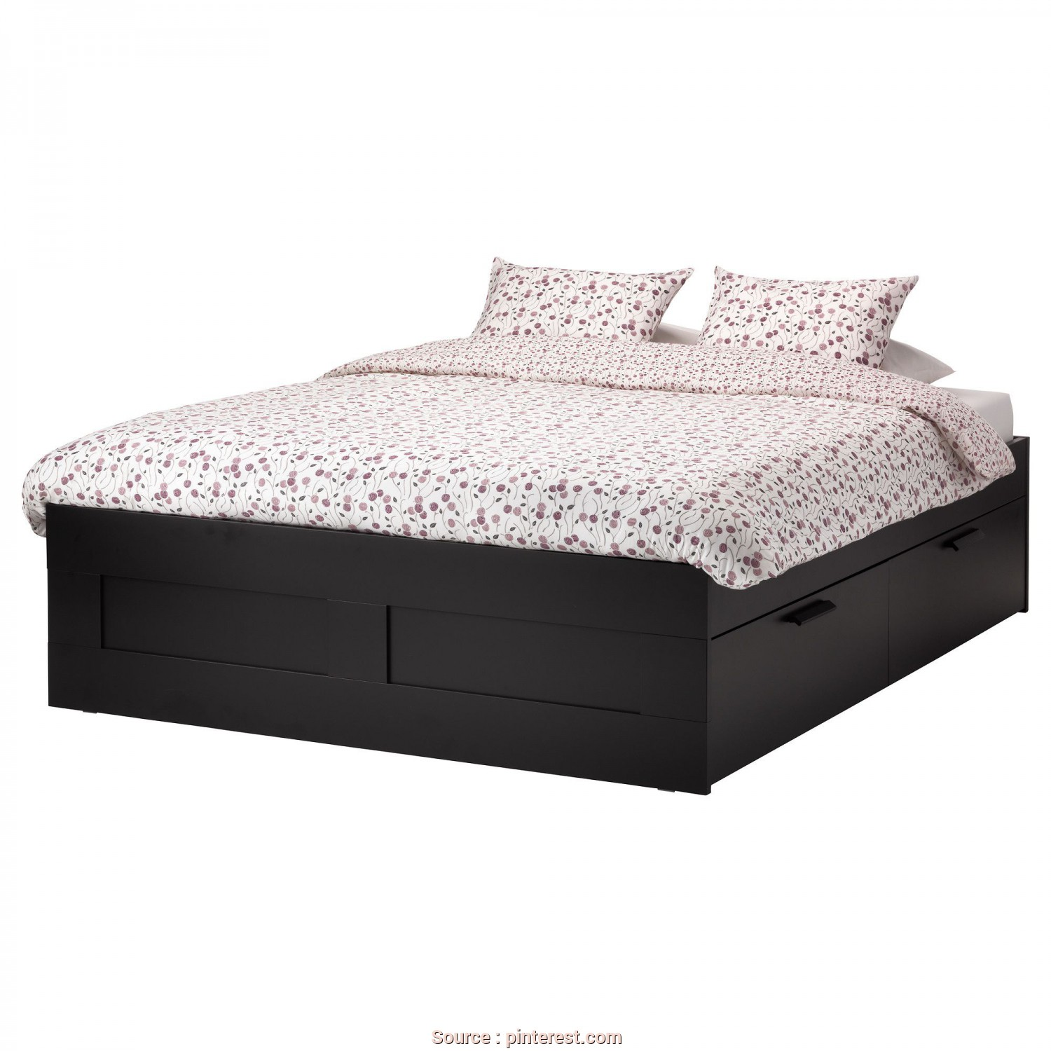 Brimnes Letto Video, Esclusivo IKEA, BRIMNES,, Frame With Storage, Queen, Lönset, ,, 4 Large Drawers Give, An Extra Storage Space Under, Bed.Adjustable, Sides Allow, To