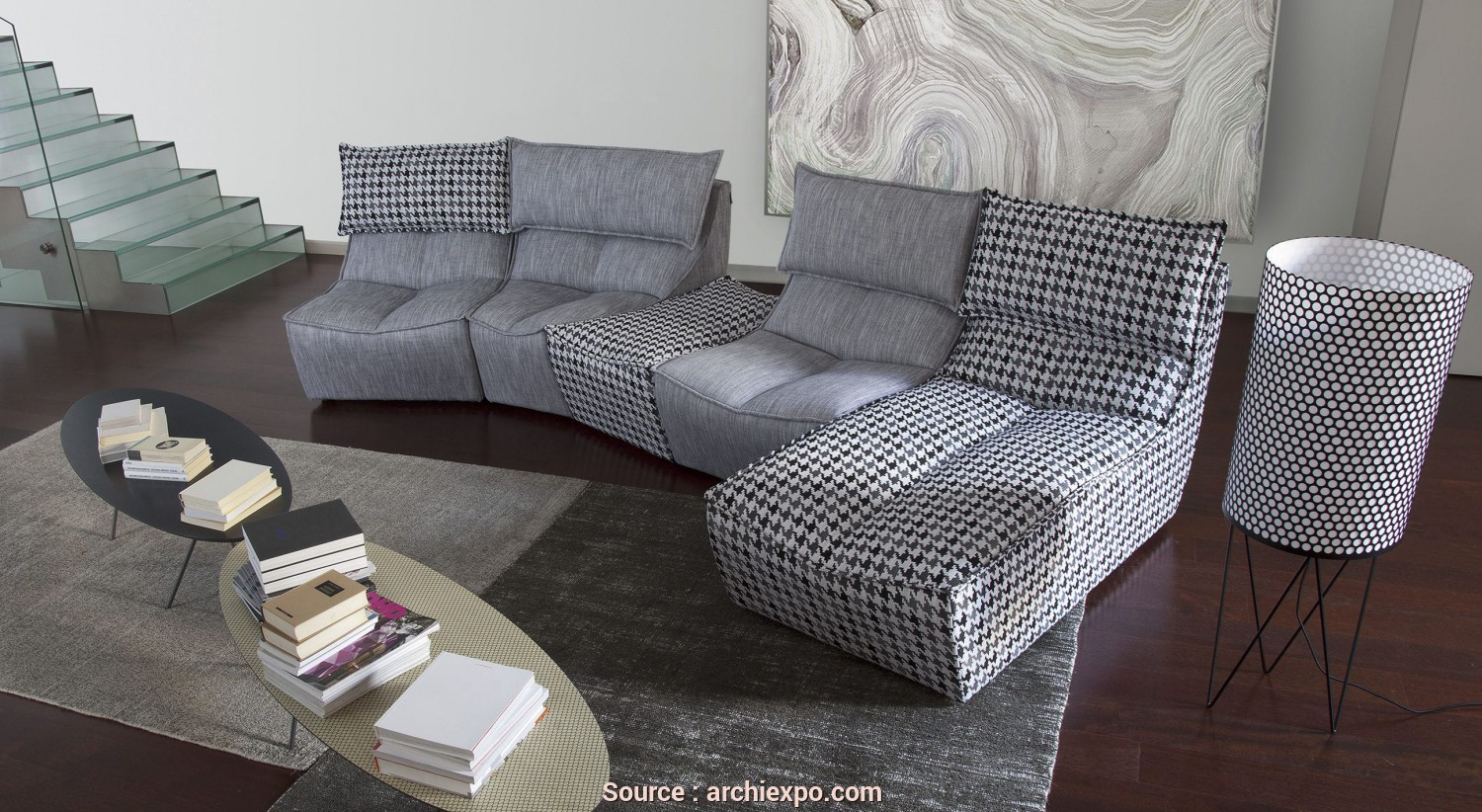 Calia Italia, Hop Prix, Originale Modular Sofa / Contemporary / Fabric / 4-Seater -, HOP