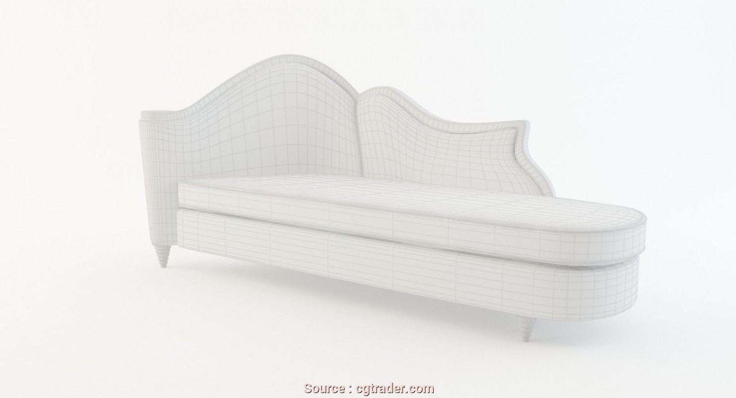 Chaise Longue, 3D, Sbalorditivo ... Chaise Lounge 3D Model, Obj, 3Ds, Ma Mb Dwg