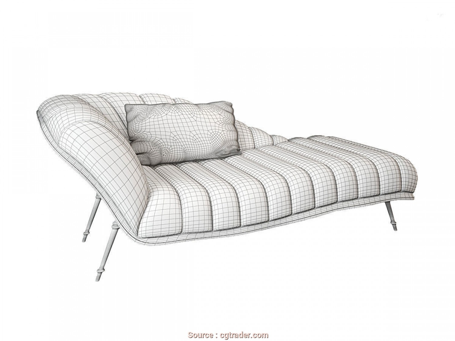 Chaise Longue, 3D, Bella ... Visionnaire Vanity Fair 3D Model, Obj, Dxf, Mat 8