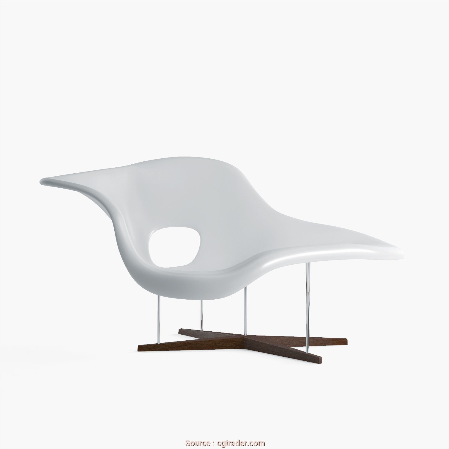 Chaise Longue In Dwg, Ideale La Chaise Vitra, 3D Model