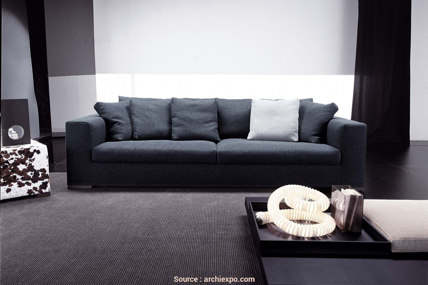 Cim Salotti Sense, Bello Modular Sofa / Contemporary / Fabric / Leather, ORESTE, Frigerio