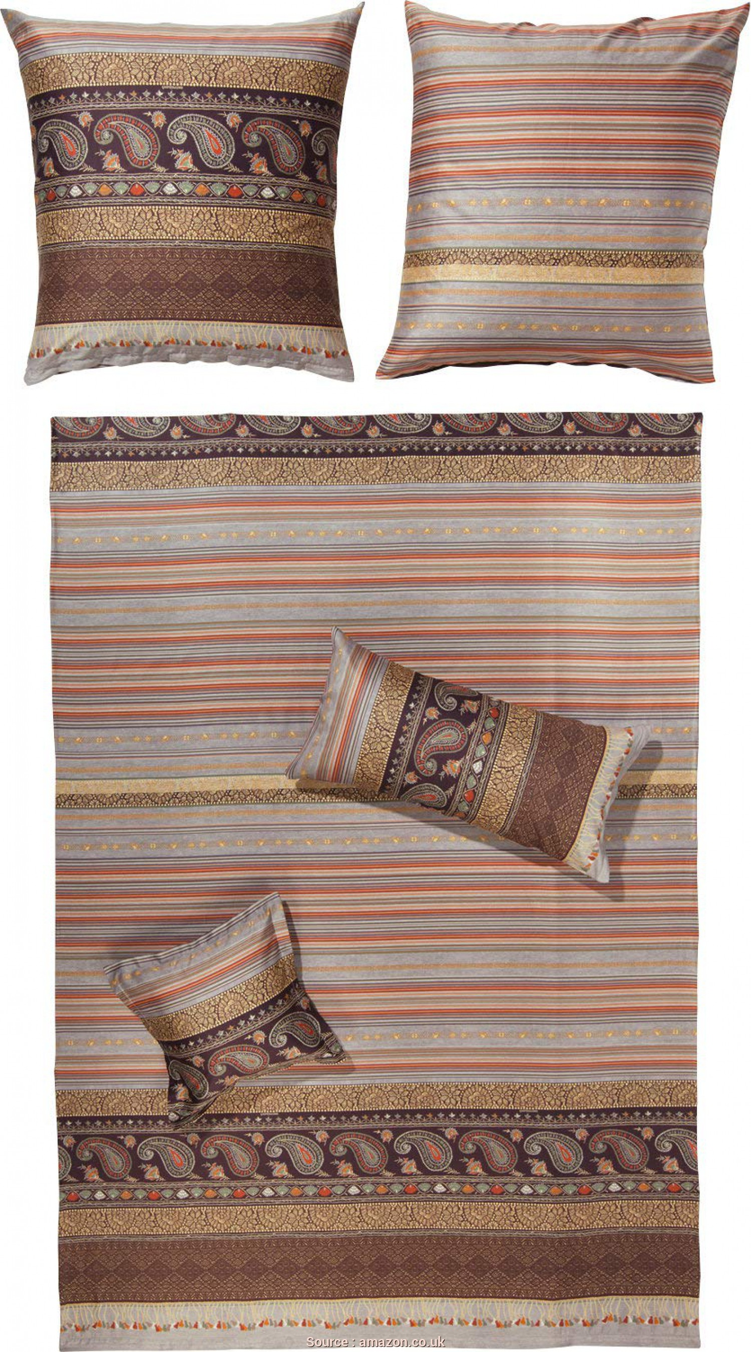 Copridivano Bassetti Amazon, Fantasia Bassetti Duvet Cover, Cervino V6 Satin Brown Size 80X80 Cm (2X) / 200X200, Bassetti: Amazon.Co.Uk: Kitchen & Home