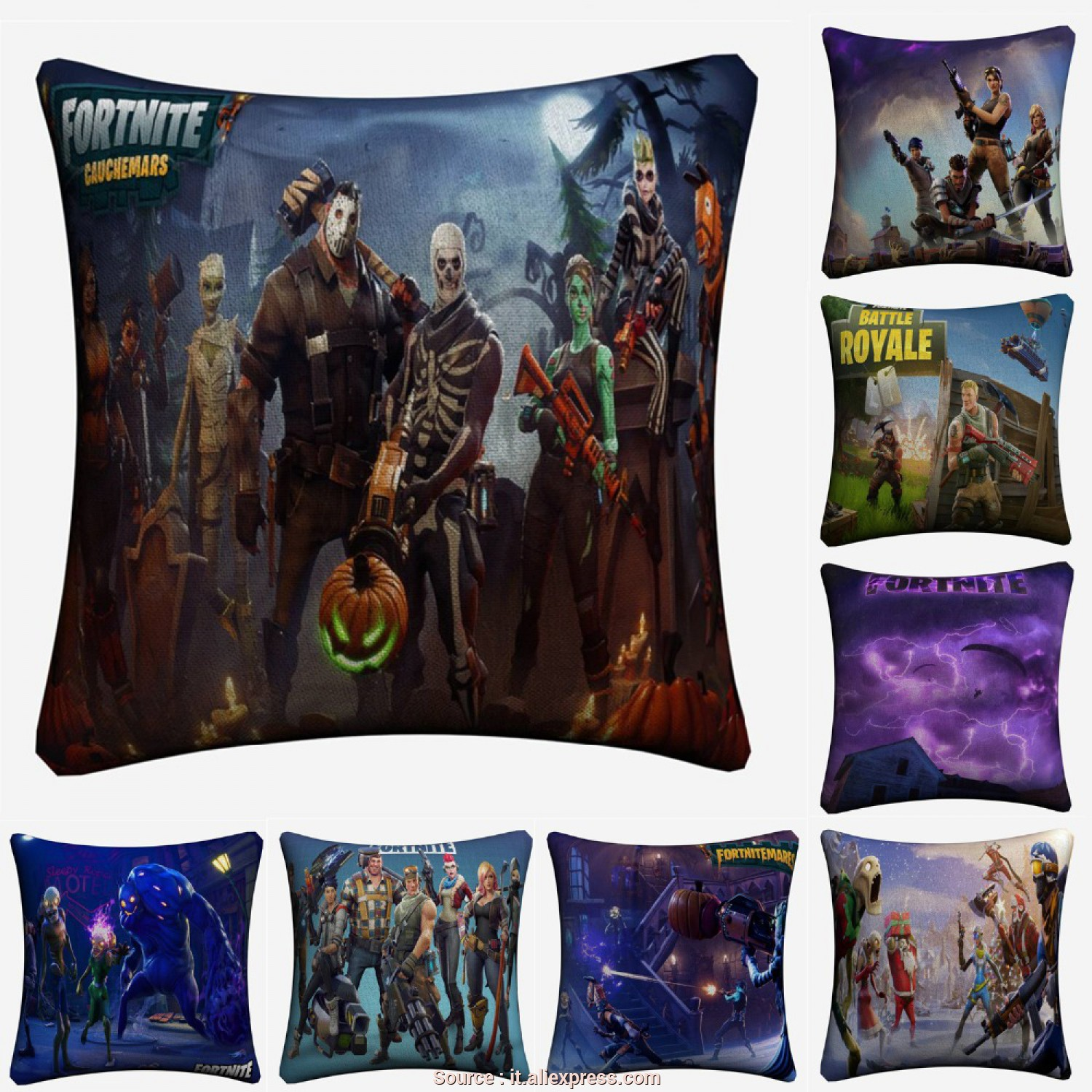 Cuscini, Divano 45X45, Affascinante Fortnite 3D Battle Royale Gioco Decorative Lino Cuscino, Divano Sedia 45X45 Cm Throw Pillow Caso Home Decor Almofada In Fortnite 3D Battle Royale Gioco