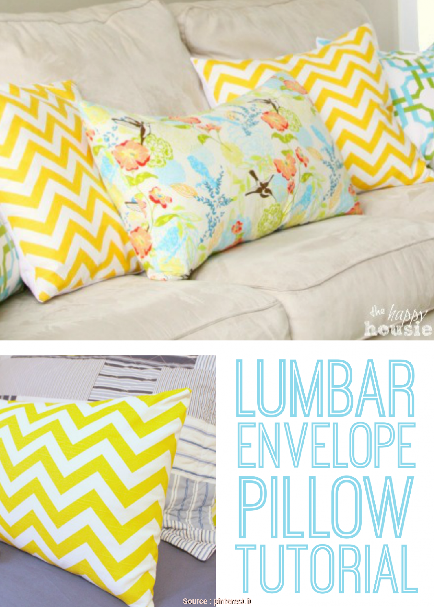 Cuscini Divano Tutorial, Magnifico Lumbar-Envelope-Pillow Easy To Follow Directions, Used, Classroom Pillows Cuscini Da