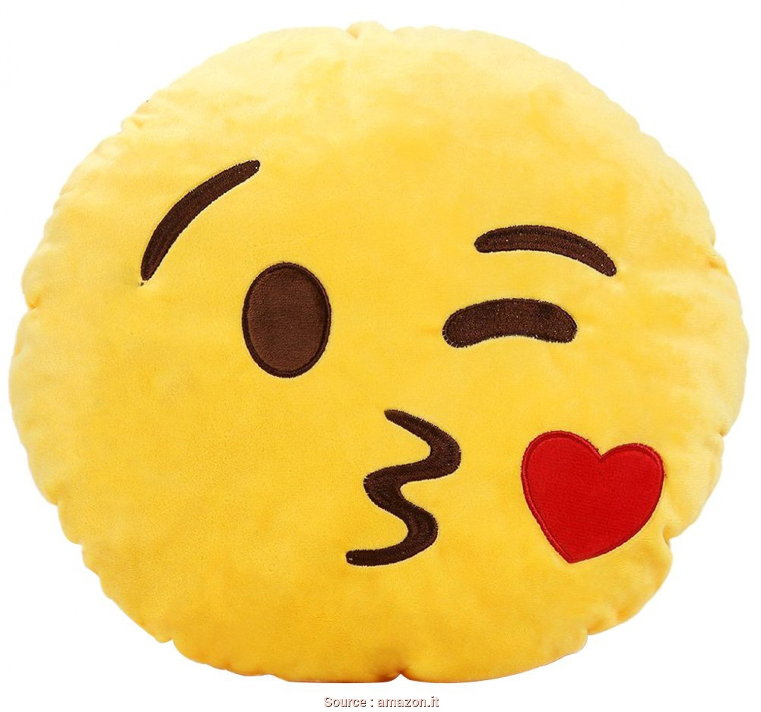 Cuscini Emoji Grandi, Bello Cute Peluche, Motivo: Smiley Emoji Smile, Cuscino Rotondo Cuscino