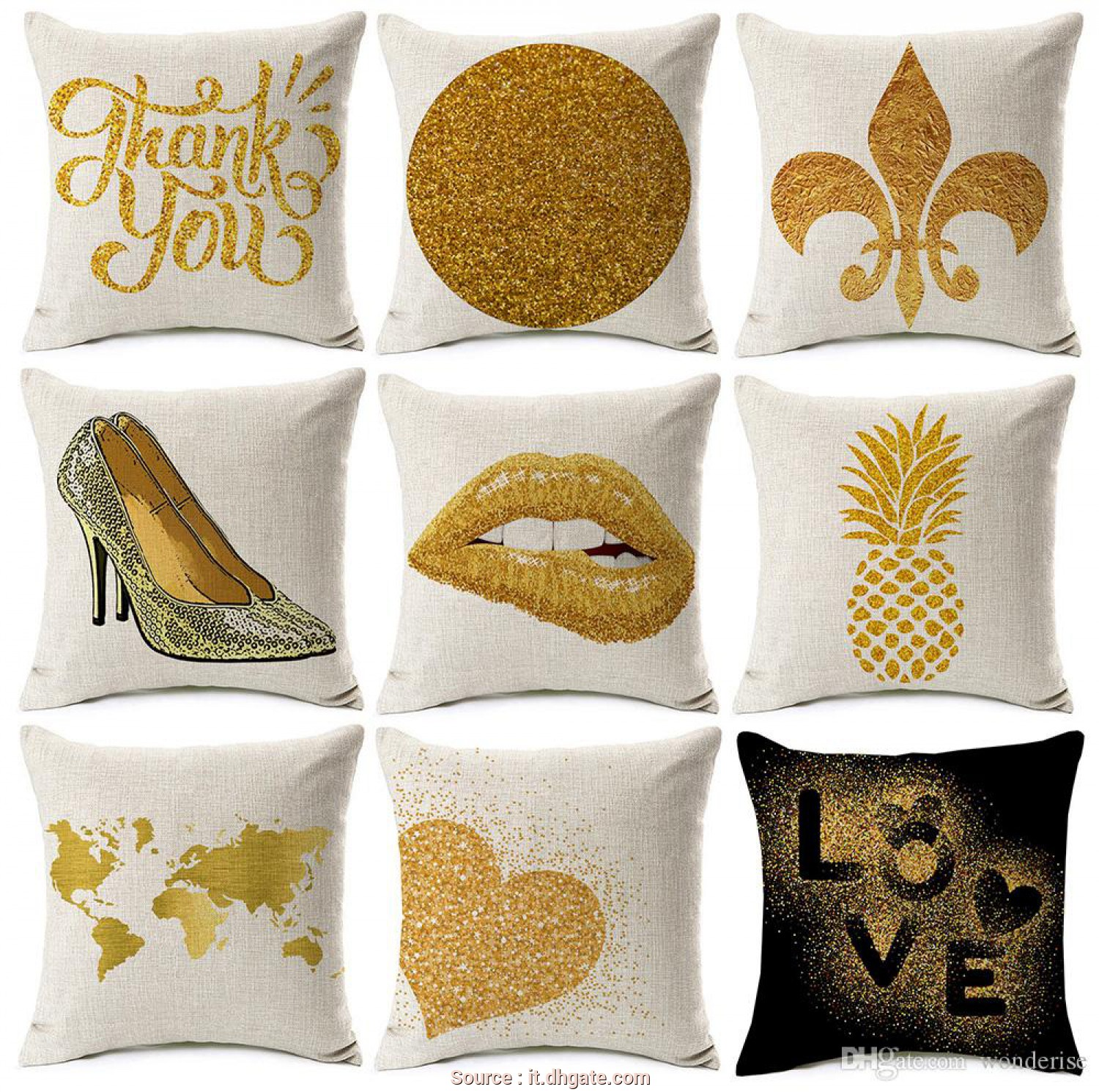 Cuscino Divano Beige, Casuale Acquista Copri Cuscino, Lips Tacco Alto Coprisedili Golden Pineapple World, Copricuscino Love Heart Divano Beige Lino Federa A $3.38, Wonderise