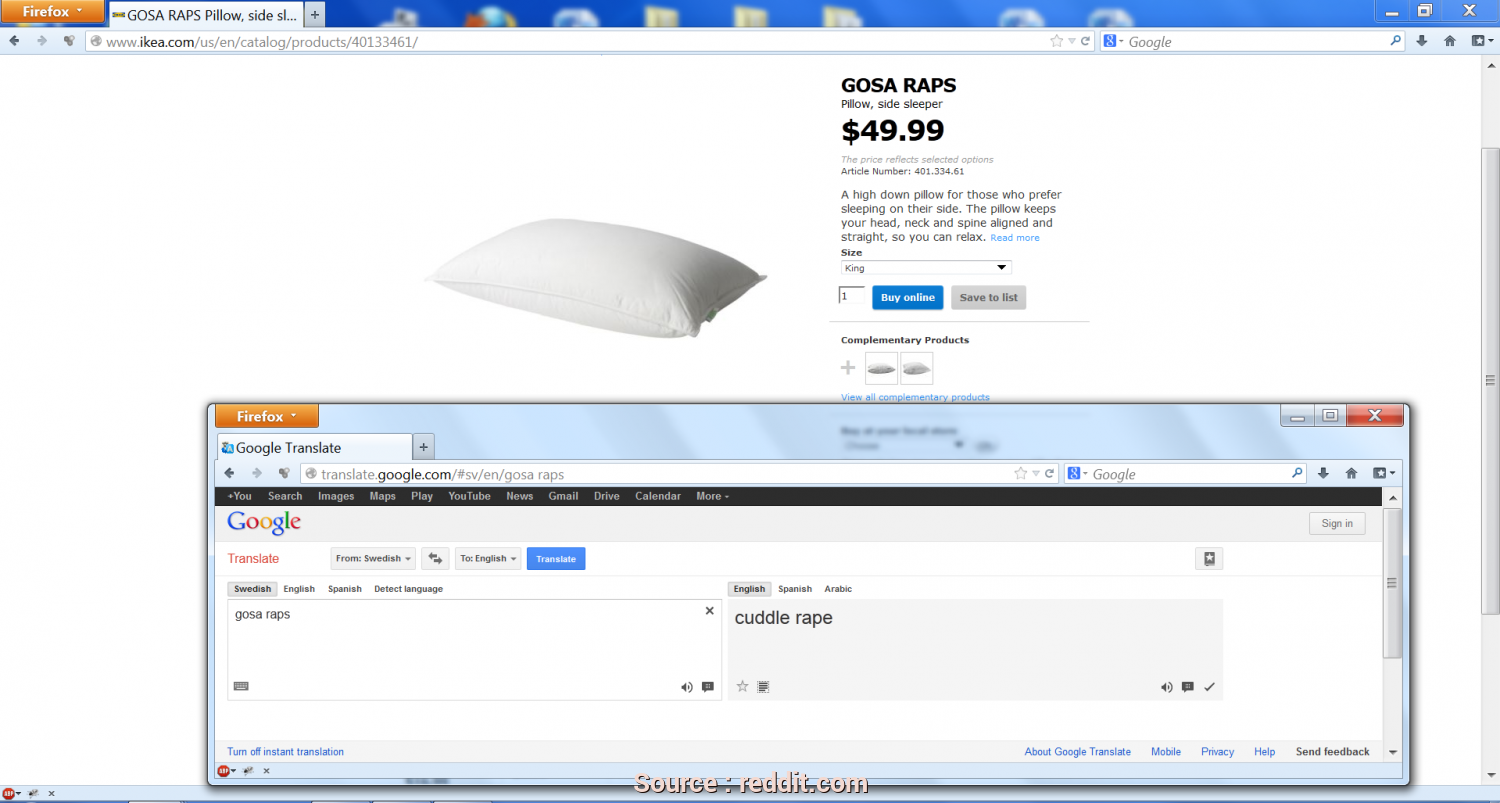 Cuscino Ikea Gosa Karna, Bella So I Bought This Pillow From IKEA, Decided To Translate The