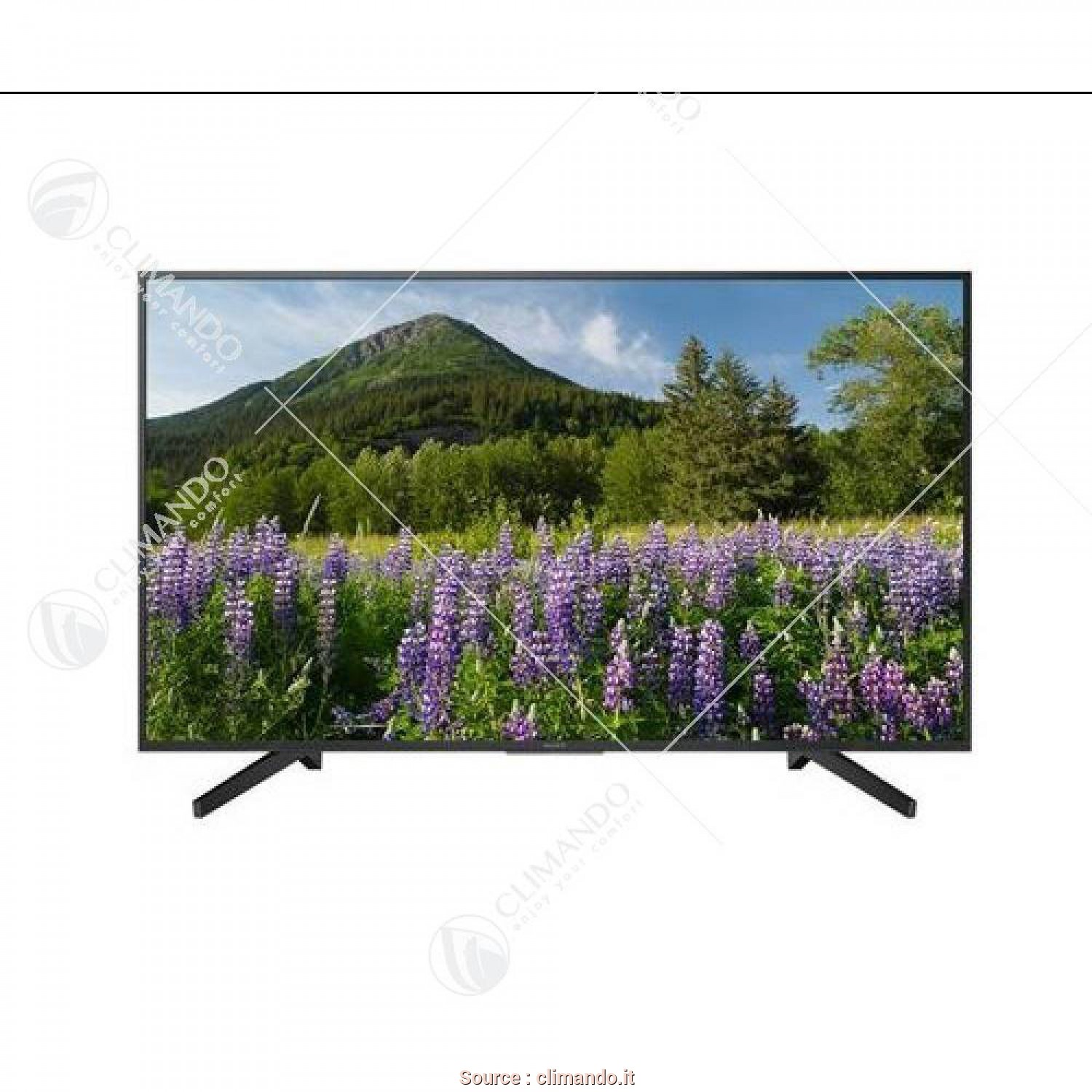 Distanza, Divano E Tv 55 Pollici, Minimalista Sony Tv KD 55XF7005, 55 Pollici 4K Ultra HD, Smart TV Wi-Fi, Climando.It