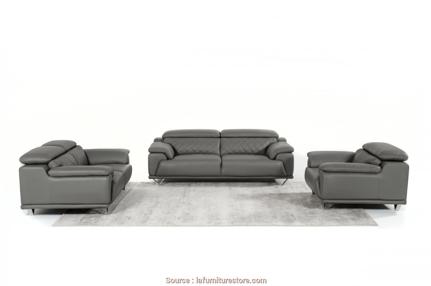 Divani Dondi Vicenza, Casuale Divani Casa Wolford Modern Grey Leather Sofa Set