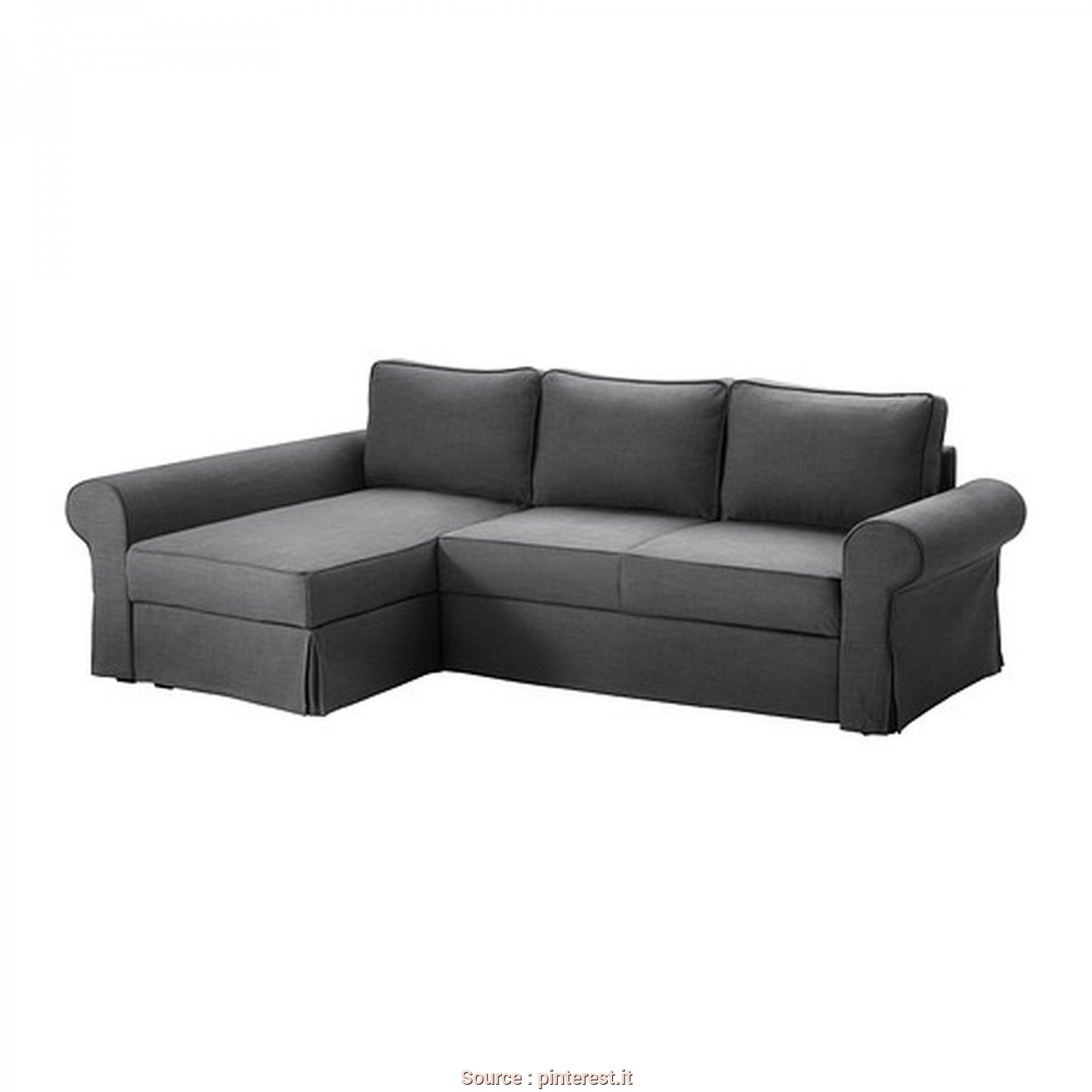 Divani Grigi Ikea, Classy IKEA +BACKABRO+2+Seat+Loveseat+Sofa+Bed+And+Chaise+SLIPCOVER+Cover+SVANBY+GRAY+Grey+Linen+Blend