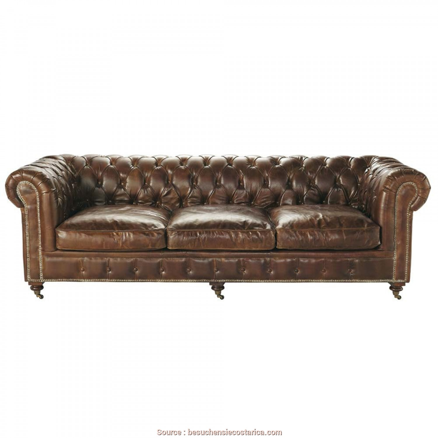 Divano 3 Posti Maison Du Monde, Stupefacente ... Sofas Maison Du Monde, Lager 4 Seater Chesterfield Leather Button Sofa In Brown Vintage
