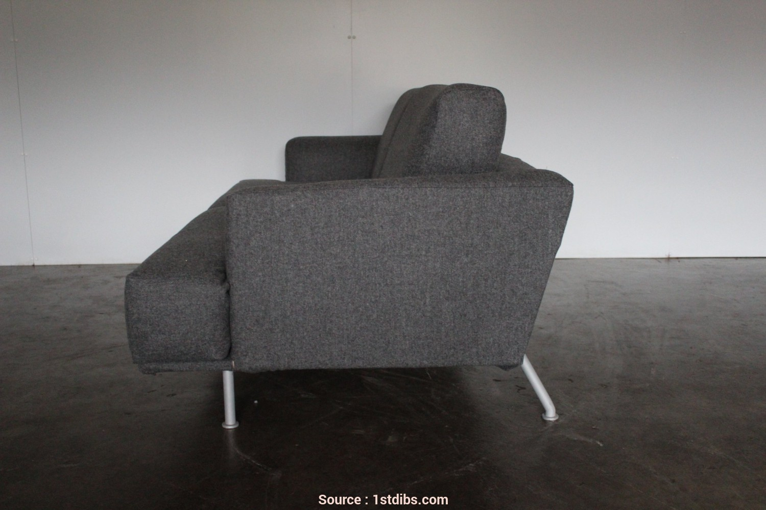 "Divano Cassina Nest, Eccezionale Cassina ""253 Nest"" Two-Seat Sofa In Grey Cashmere Wool By Piero Lissoni, Sale At 1Stdibs"