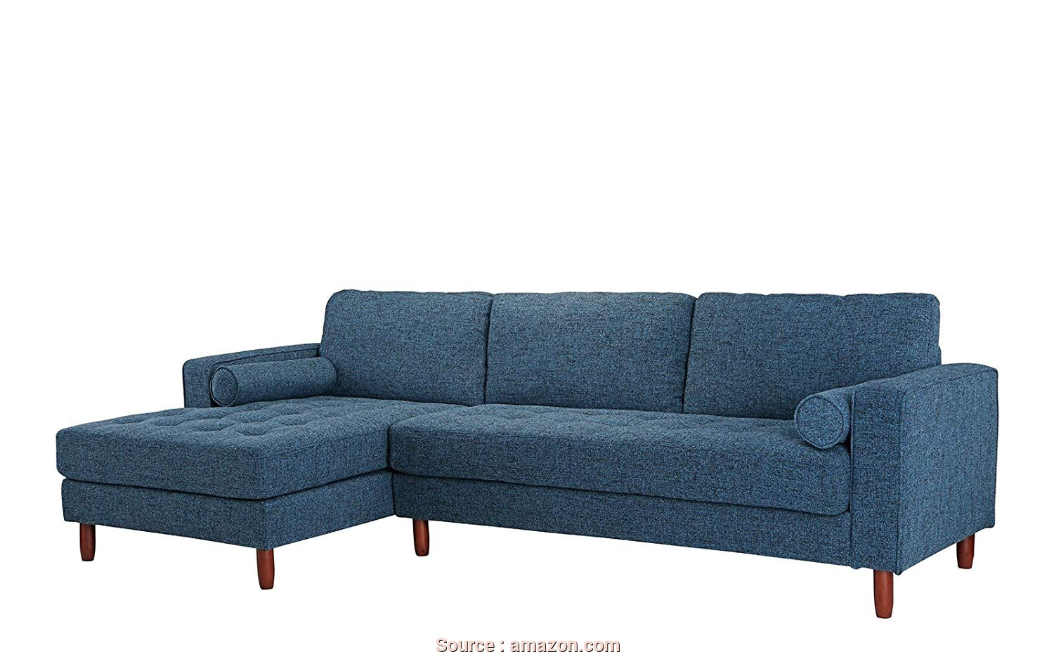 Divano Chaise Longue 180, Eccezionale Amazon.Com: DIVANO ROMA FURNITURE Mid-Century Modern Tufted Fabric Sectional Sofa, L-Shape Couch With Extra Wide Chaise Lounge (Dark Blue): Kitchen & Dining