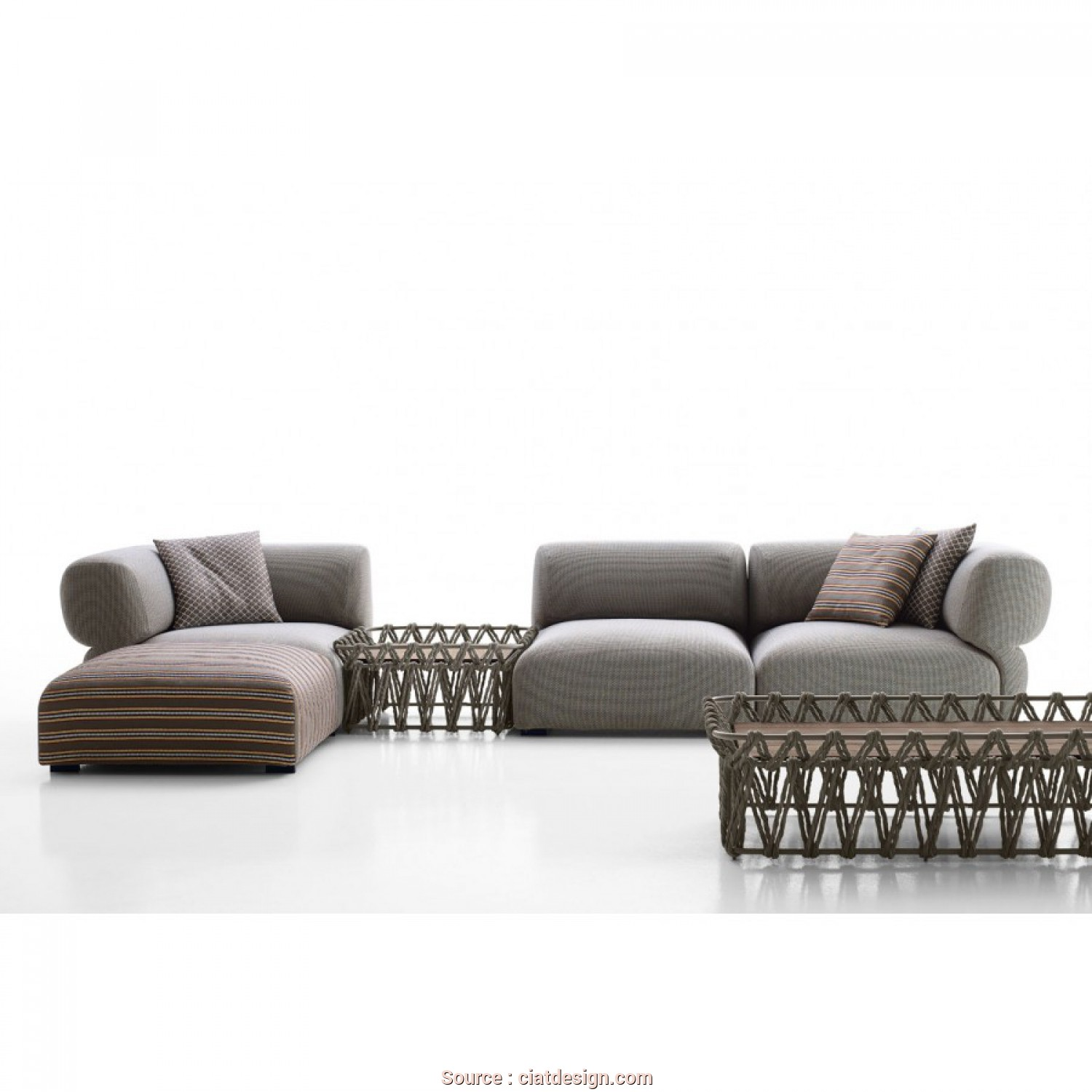 Divano, Chaise Longue Design, Casuale Butterfly Sofa With Chaise Longue By, Italia, Design By Patricia Urquiola Shop Online On CiatDesign