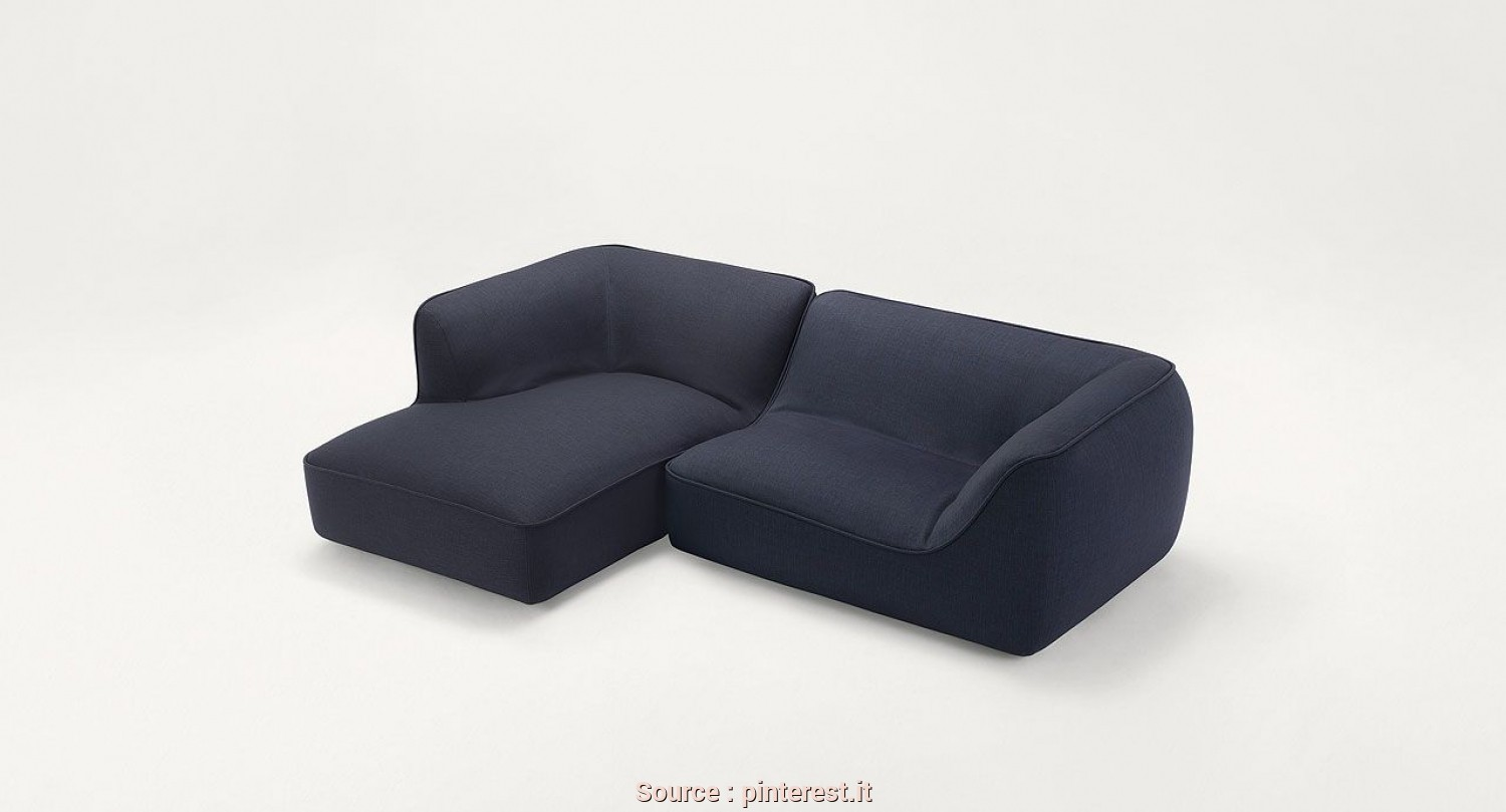 Divano Chaise Longue O Pouf, Magnifico So, Modular Seating System Consisting Of Left, Right, Central Elements, Chaise Longue