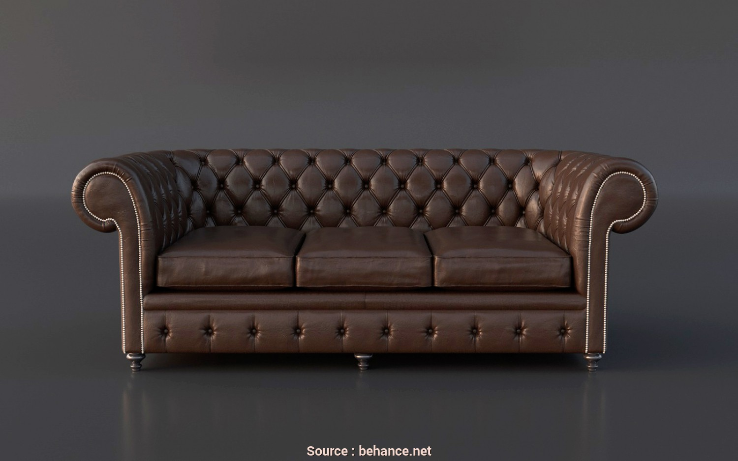 Divano Chester 3D Model, Eccellente FREE Chesterfield Couch 3D Model On Behance