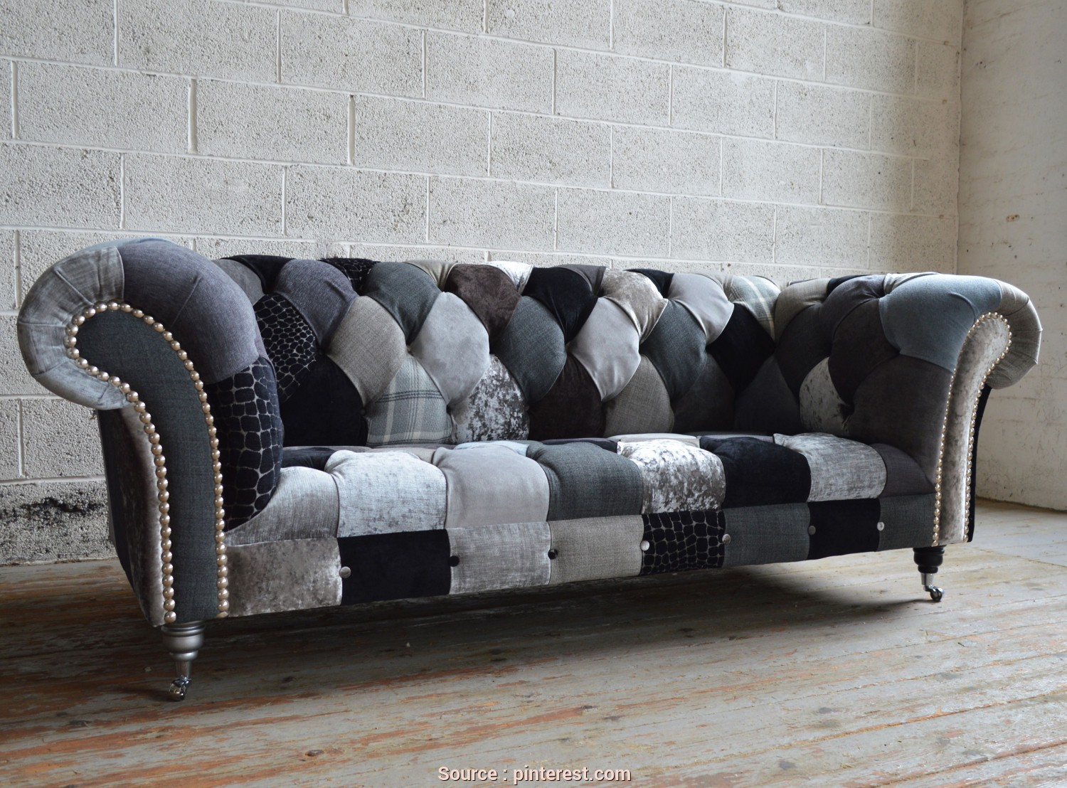 Divano Chester Patchwork, A Buon Mercato Monochrome Walton Patchwork Chesterfield Sofa, Couches In 2019