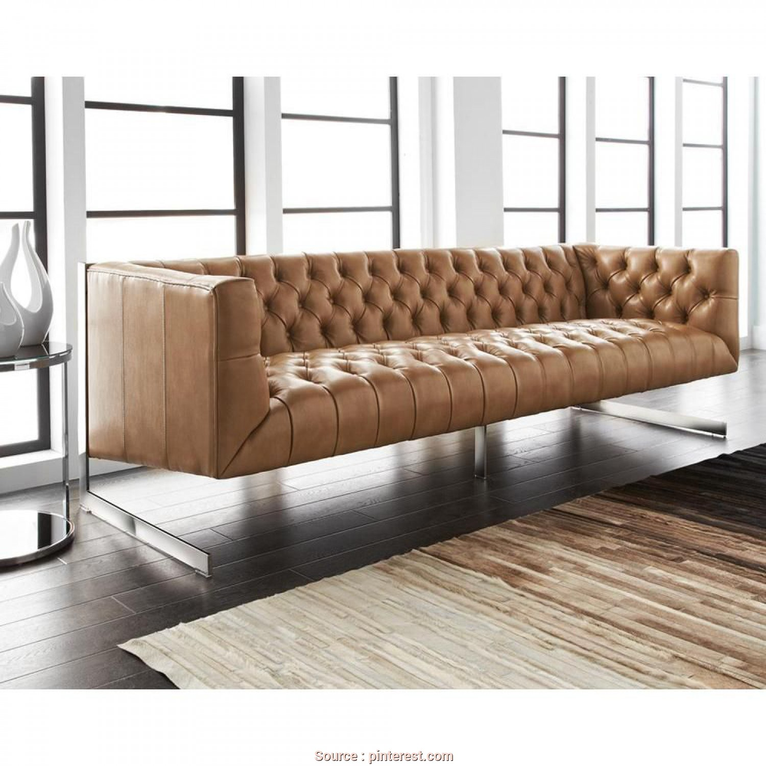 Divano Chester Viper, Minimalista Viper Sofa, Peanut Leather, Living In Lux, Sofa, Leather Sofa