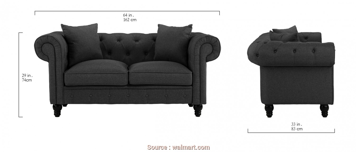 Divano Chesterfield 3D, Modesto Divano Roma Furniture Classic Linen Fabric Scroll, Tufted Button Chesterfield Style Loveseat Couch (Light Grey), Walmart.Com