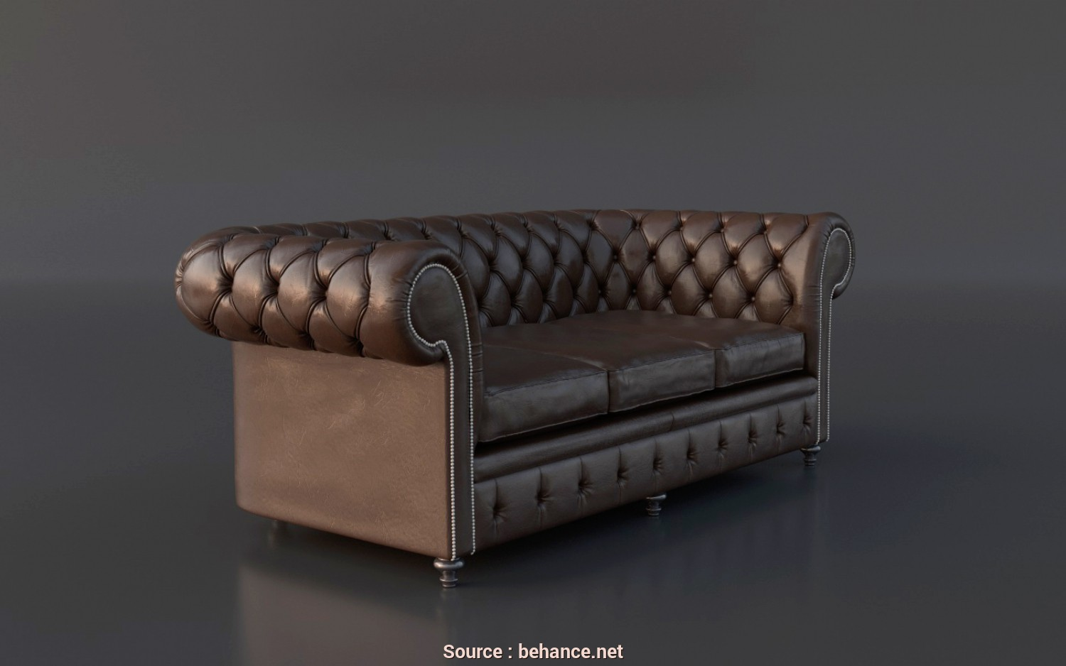 Divano Chesterfield 3D, Bella FREE Chesterfield Couch 3D Model On Behance