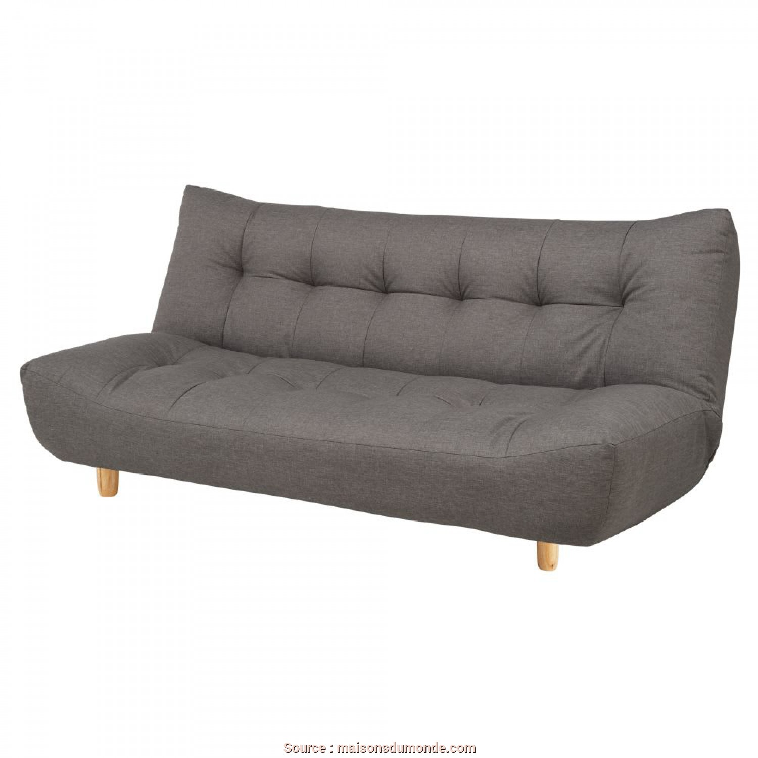 Divano Cloud Maison Du Monde, Magnifico 3-Seater Clic Clac Sofa, In Grey Cloud