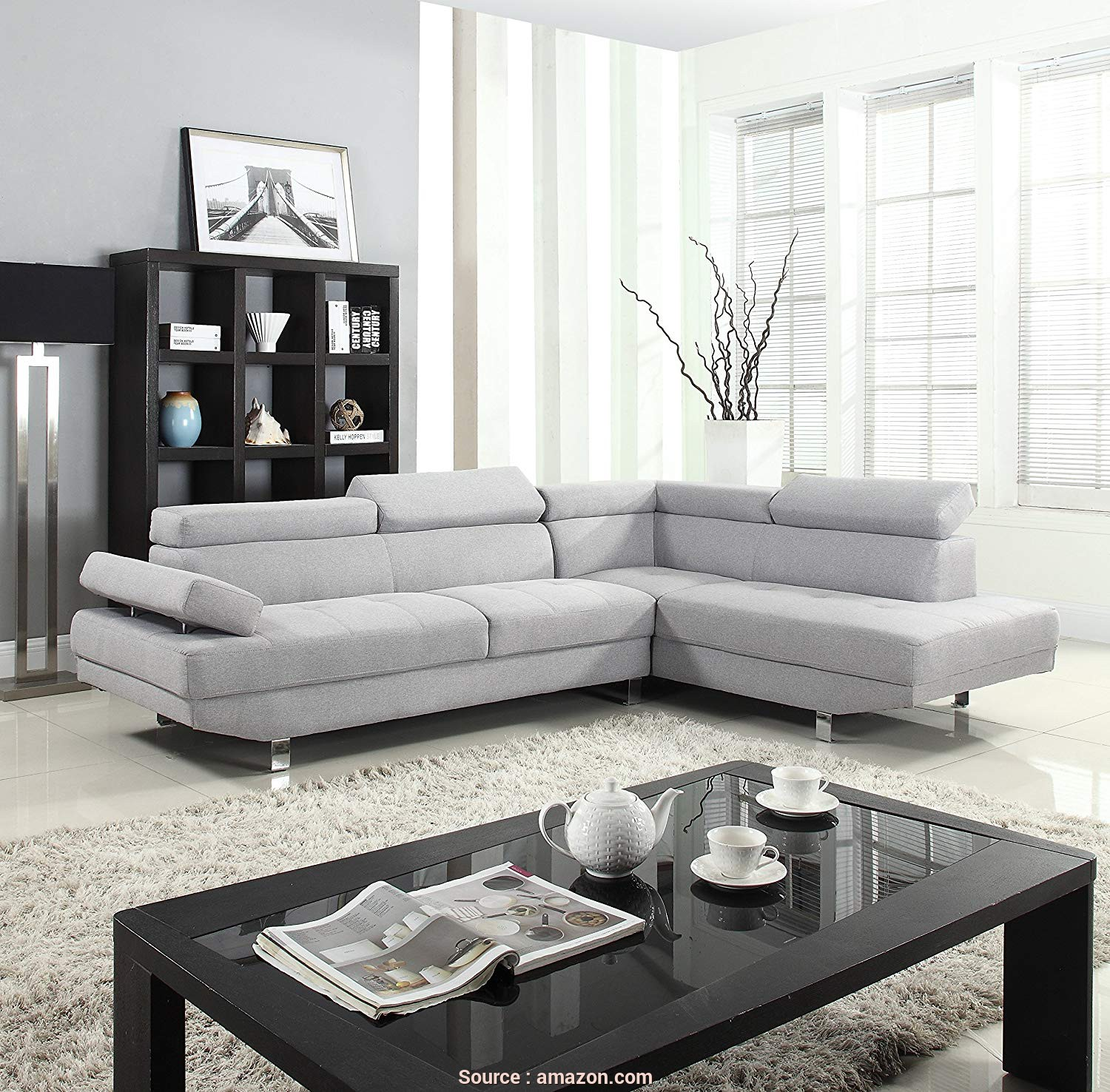 Divano Design, Cost, Buono Amazon.Com: Divano Roma Furniture Modern Contemporary Linen Sectional Sofa With Adjustable,, Light Grey: Kitchen & Dining