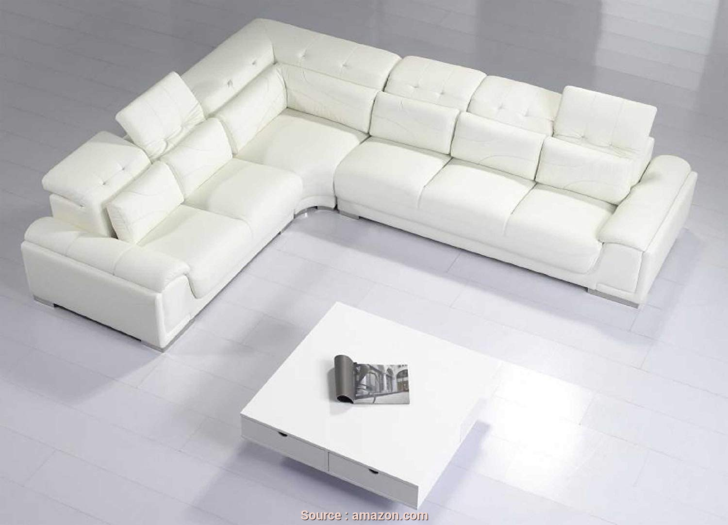 Divano Dm979 Black Modular Office Sofa, Freddo Amazon.Com: Modern Furniture- VIG- T93C, Modern White Leather Sectional Sofa: Kitchen & Dining
