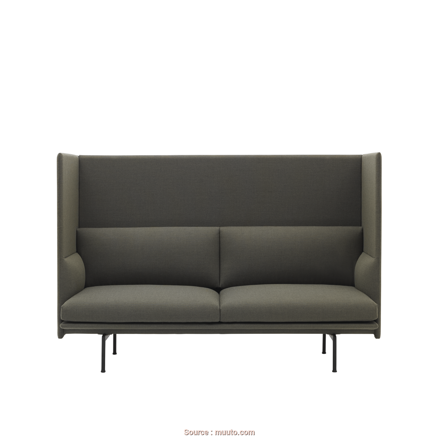 Divano Dm979 Black Modular Office Sofa, Locale Outline Highback Sofa, An Elegantly Comfortable Design