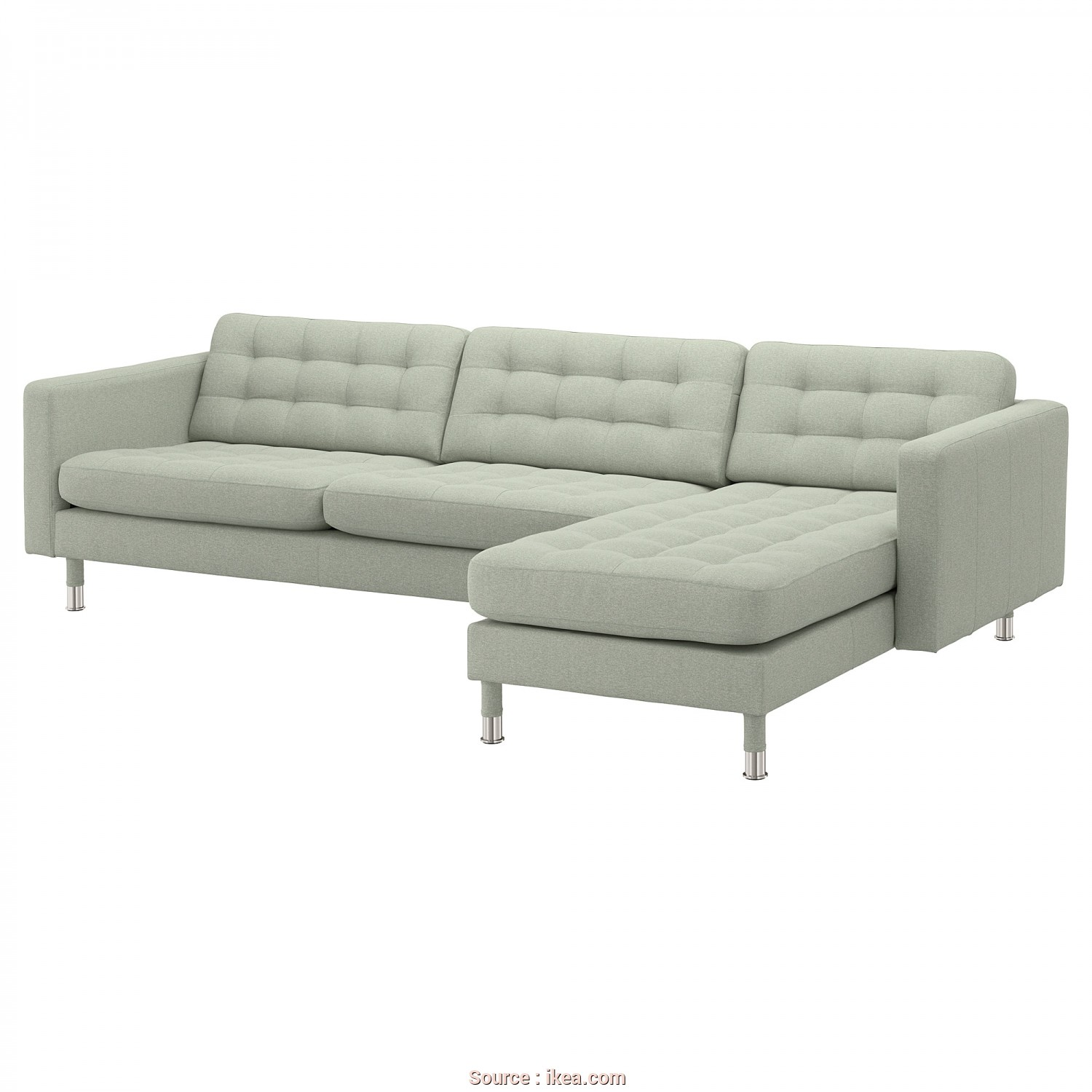 Divano Dm984 Beige Modular Office Sofa, Bello LANDSKRONA Sectional, 4-Seat, With Chaise, Gunnared Light Green/Wood