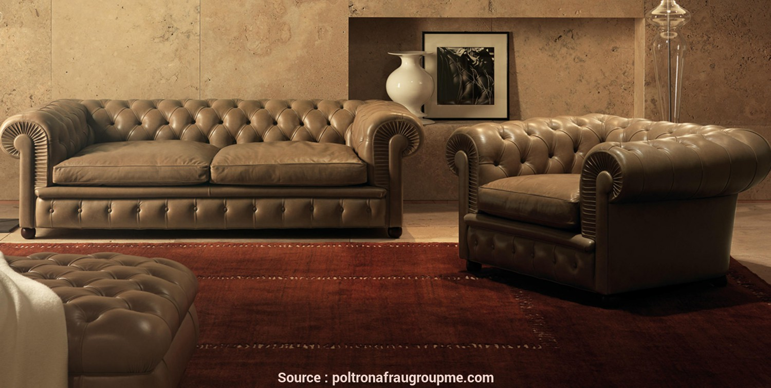 Divano Frau In Pelle, Classy CHESTER, Italian Luxury Furniture In Dubai, Middle East