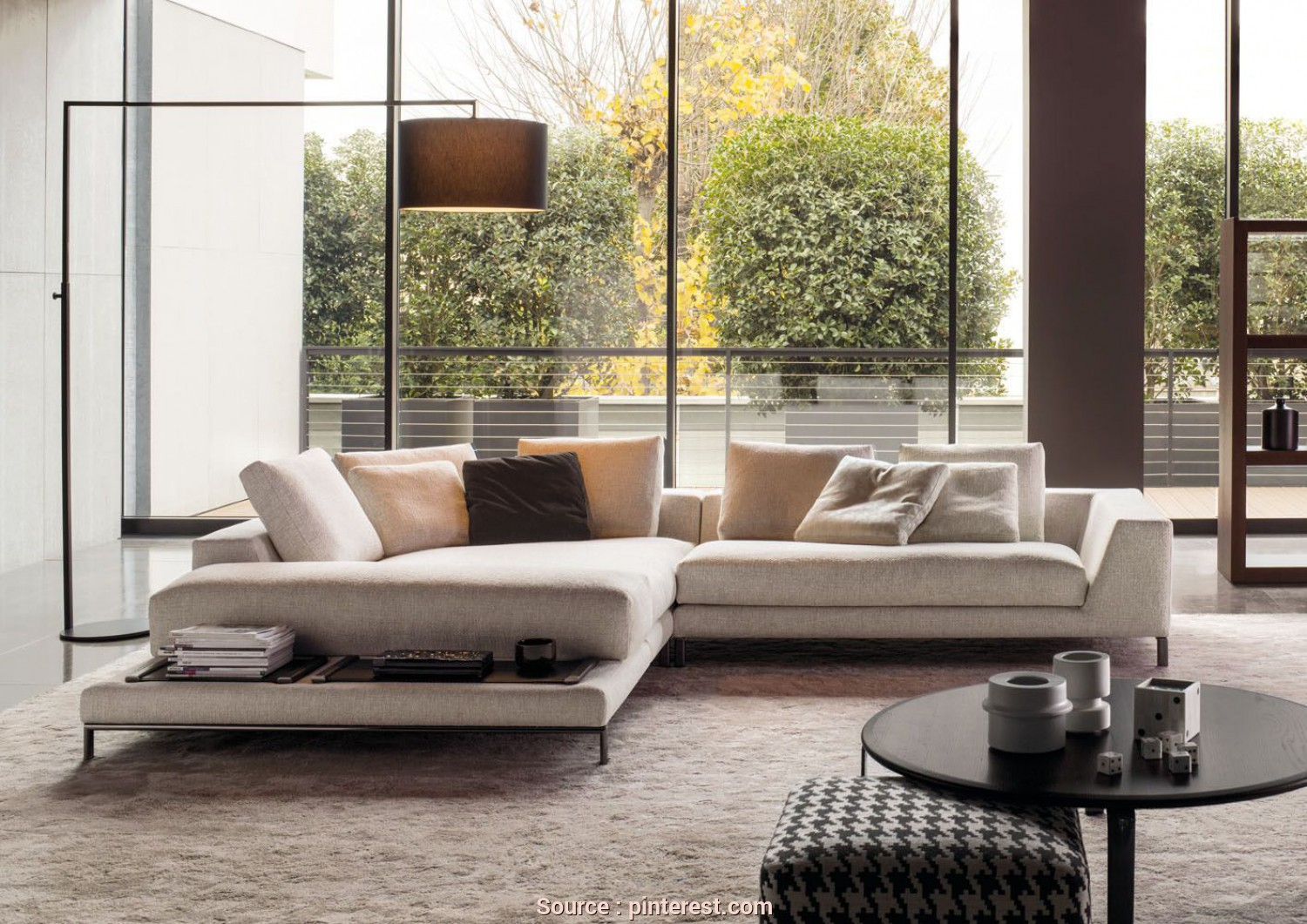 Divano Hamilton Island Minotti, Deale HAMILTON ISLANDS, SOFAS EN Minotti Relies On, Hamilton Islands Version To Offer A Further Enriched Hamilton Seating System, In Contents As In Form