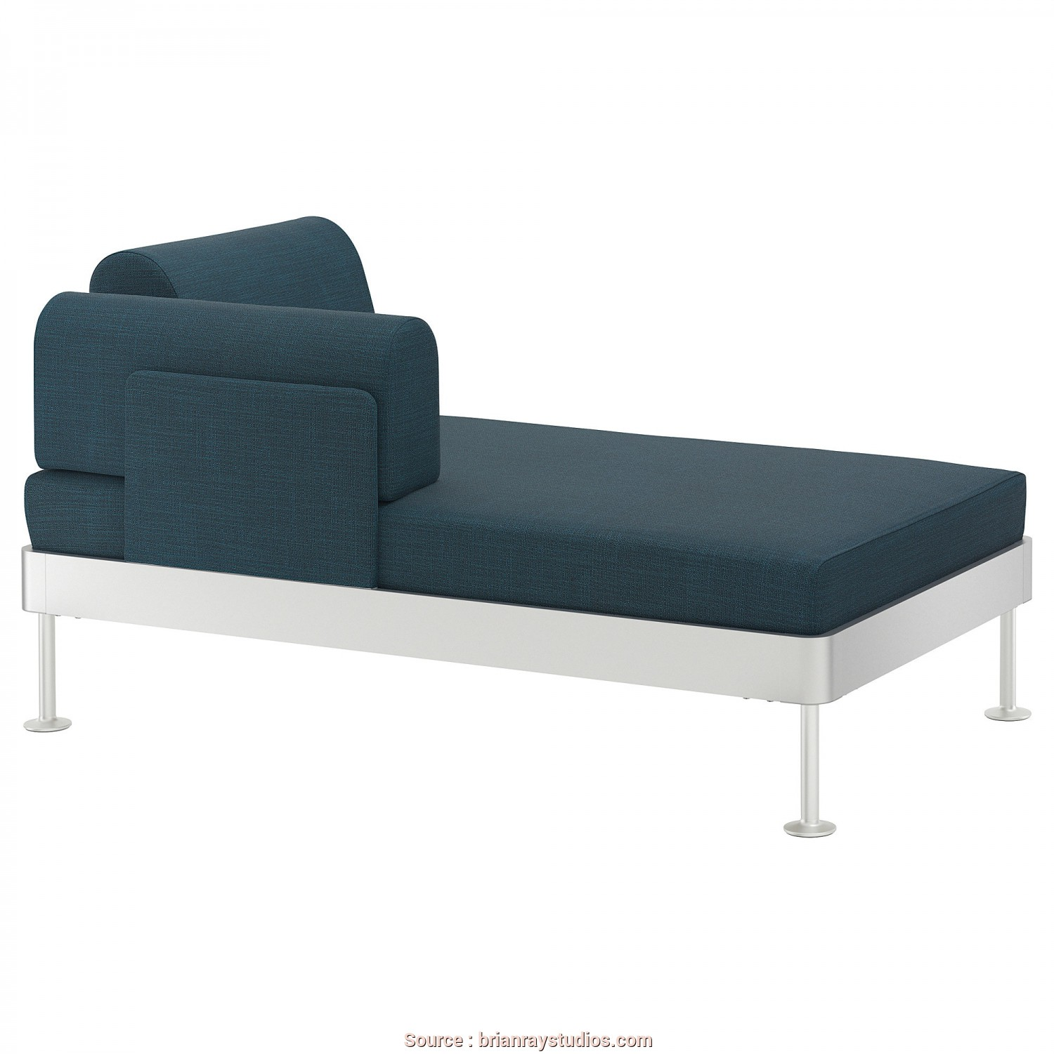 Divano Ikea Kivik, Chaise Longue, Casuale ... Delaktig Chaise Longue With Armrest Hillared Dark Blue Ikea Concerning Ikea Chaise Longue