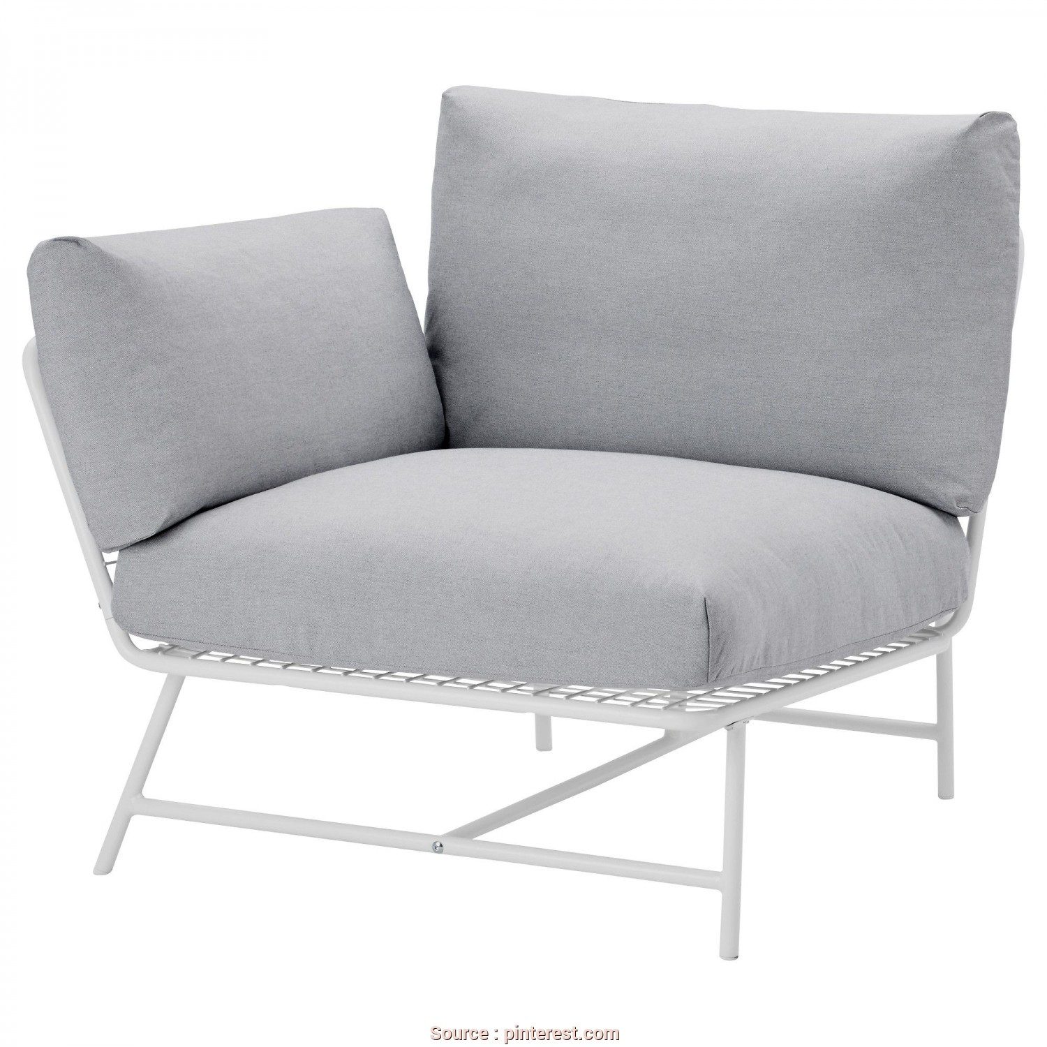 Divano Ikea Ps 2017, Deale IKEA IKEA PS 2017 Corner Easy Chair With Cushions White/Grey, Anti-Slip Backing Keeps, Cushions Firmly In Place
