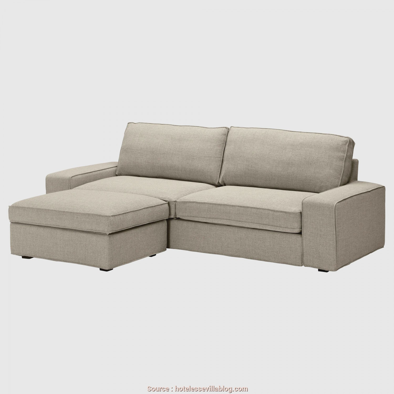 Divano Kivik Beige, Magnifico Perfect Kivik Sofabed With Footstool Ikea Generous Seating Series With A Soft Deep Seat, Fortable