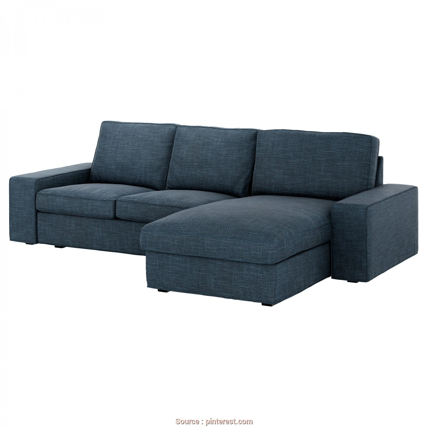 Divano Kivik Pouf, Divertente KIVIK Sofa, Hillared With Chaise, Hillared Dark Blue In 2019