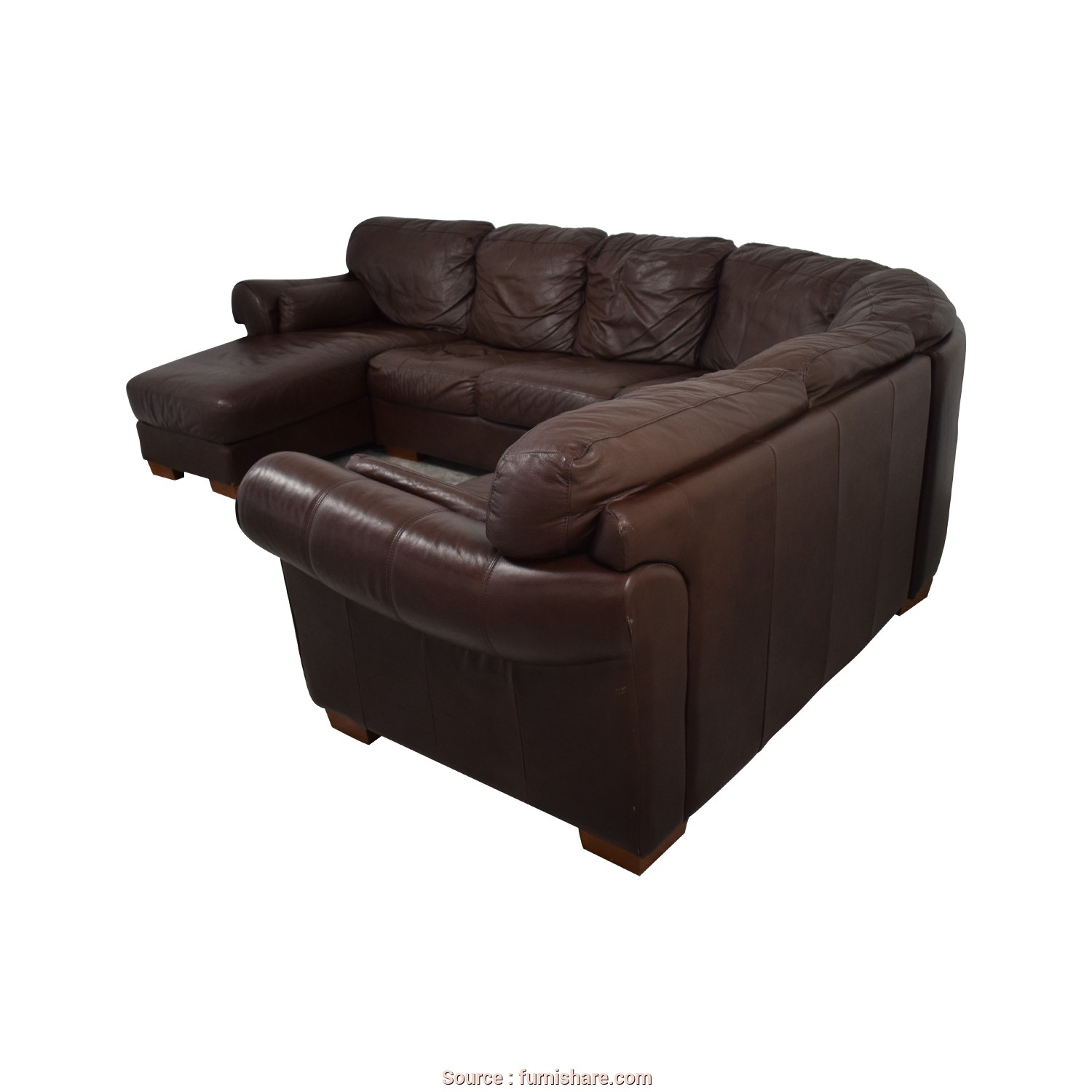 Divano Olga Chateau D'Ax, Amabile ... Chateau D'Ax Chateau D'Ax Divani Brown Leather L Sectional Couch With Chaise