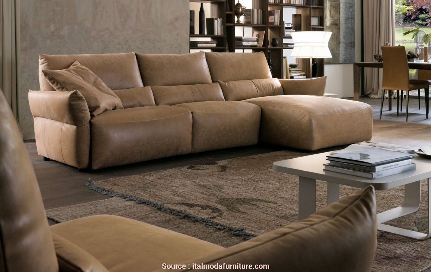 Divano Olga Chateau D'Ax, Migliore Sectionals, Living Room, Italmoda Furniture Store
