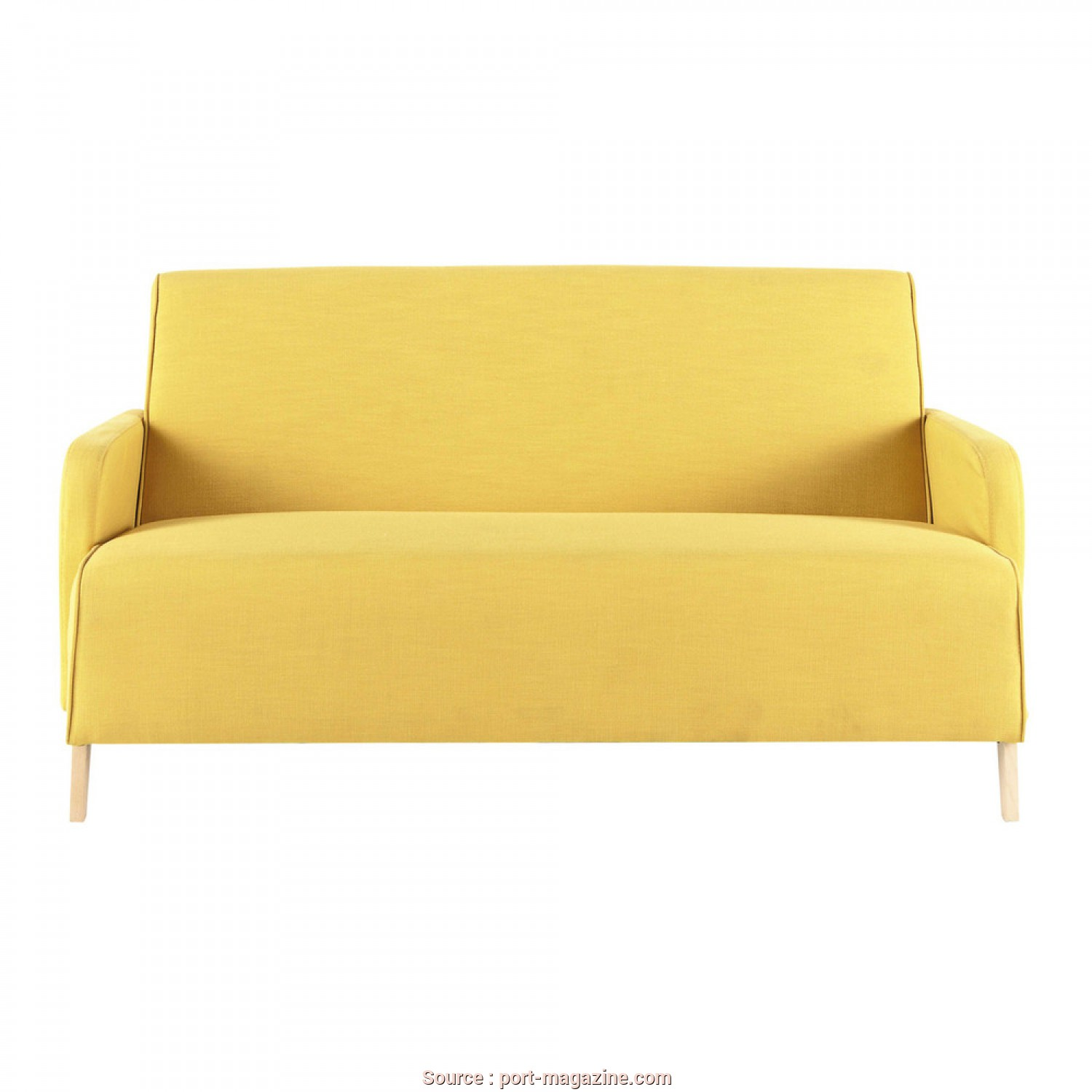 Divano, Posti Maison Du Monde, A Buon Mercato 2 Seater Fabric Sofa In Yellow Adam, £209.00, Port