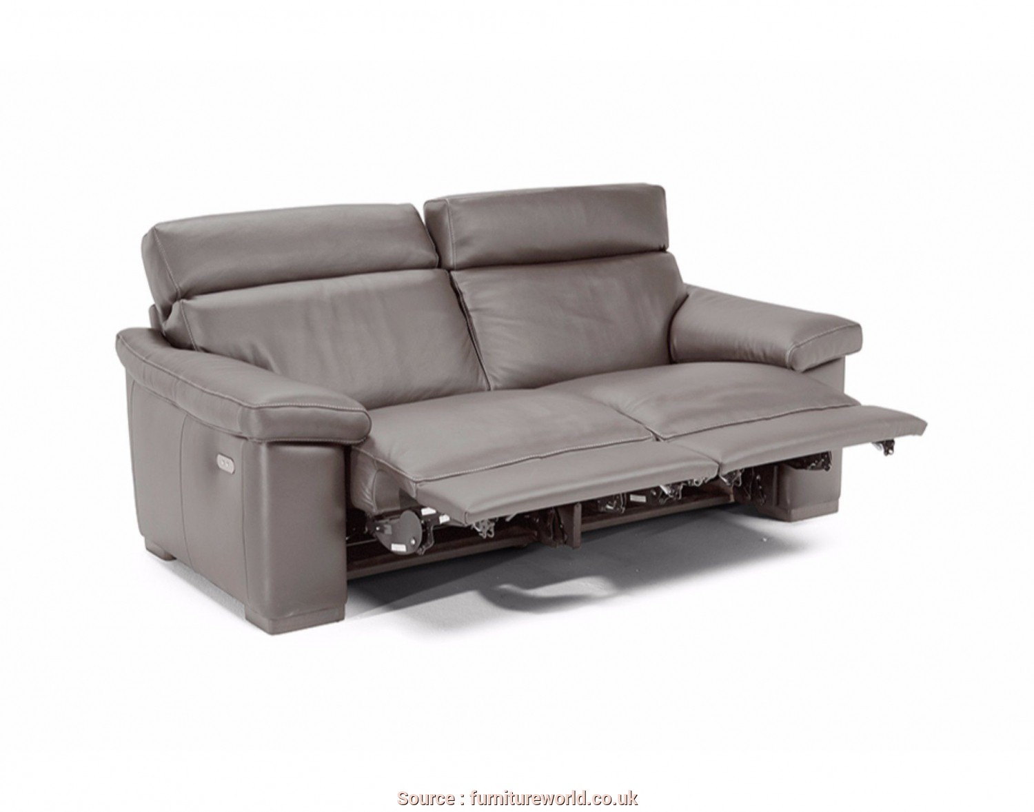 Divano, Posti Natuzzi, Minimalista The Natuzzi Divano Leather Small 2 Seater Loveseat Recliner Sofa