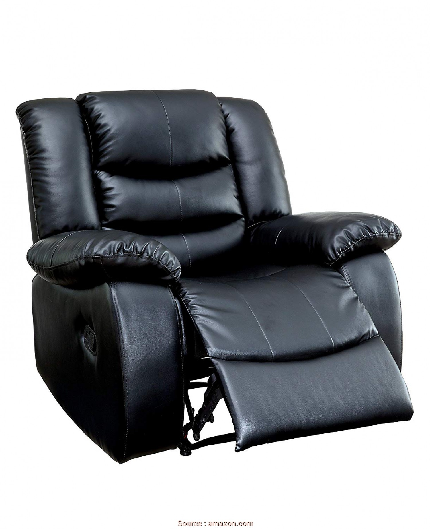 Divano Roma Furniture Relax Reclining Massage Chair, Sbalorditivo Amazon.Com: Furniture Of America Branson Faux Leather Recliner, Black: Kitchen & Dining
