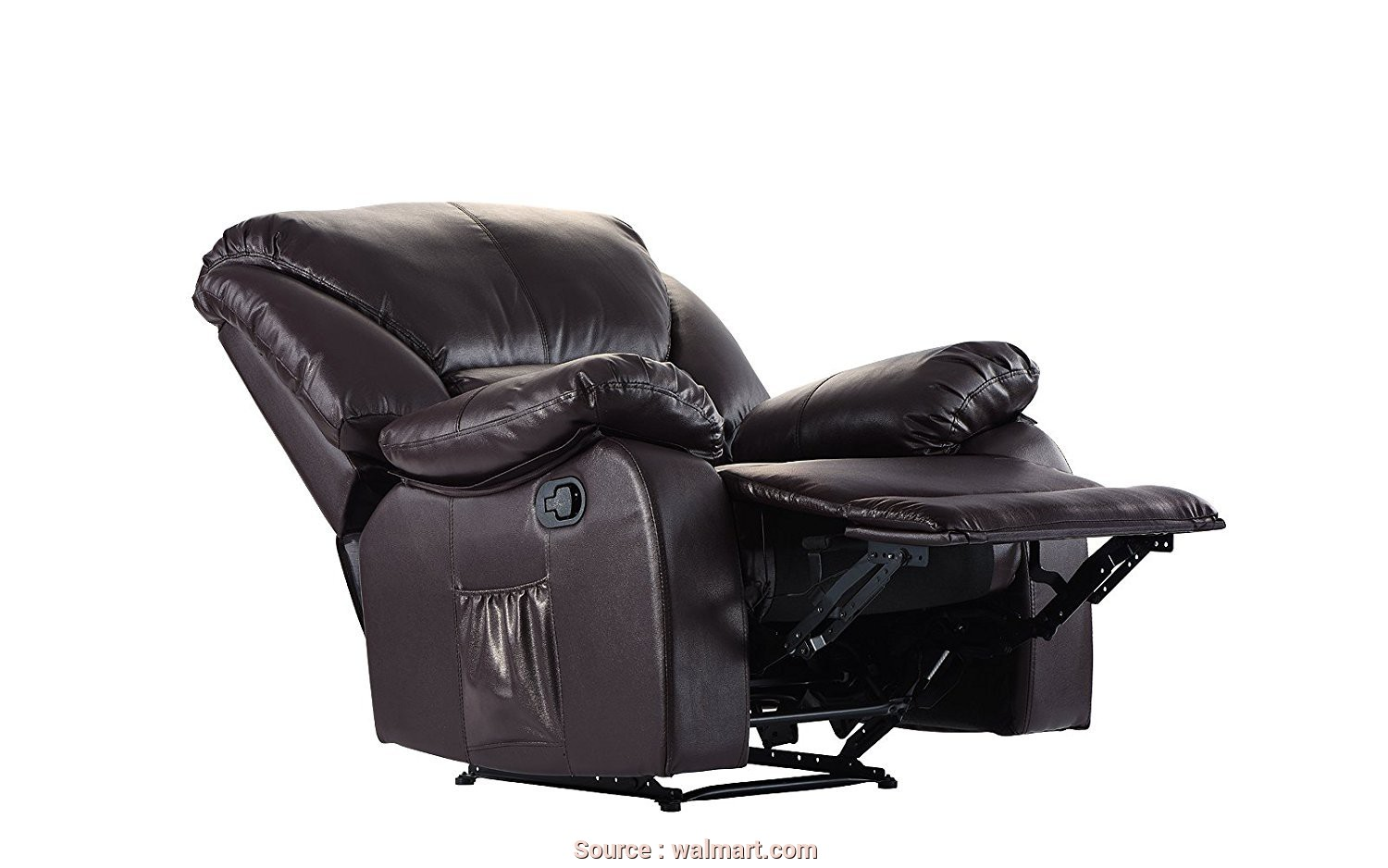 Divano Roma Furniture Relax Reclining Massage Chair, Esclusivo Full Body Massage Recliner Chair, PU Leather Reclining Massage Chair (Brown), Walmart.Com
